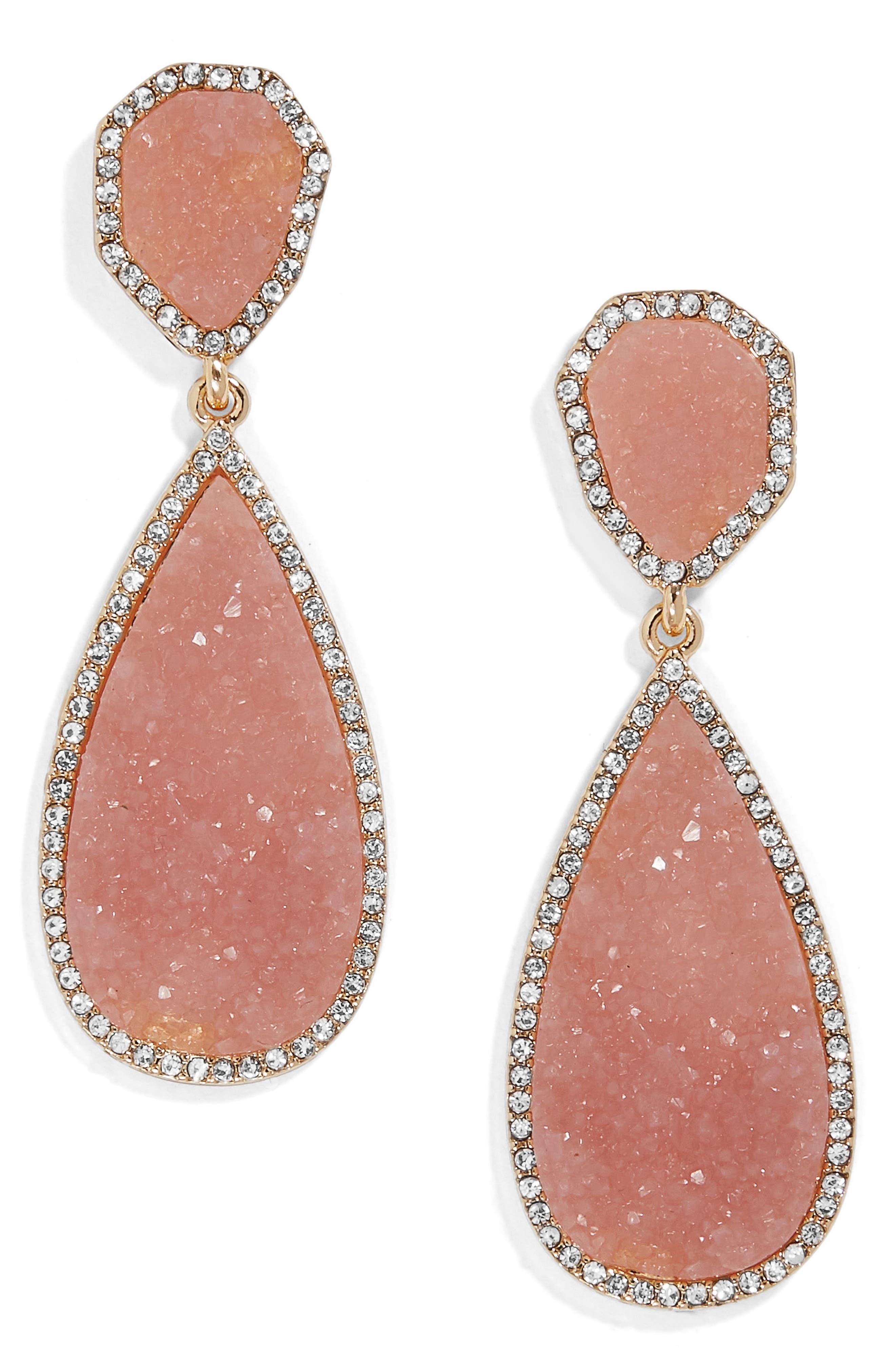 Moonlight Drop Earrings,                         Main,                         color, Pink