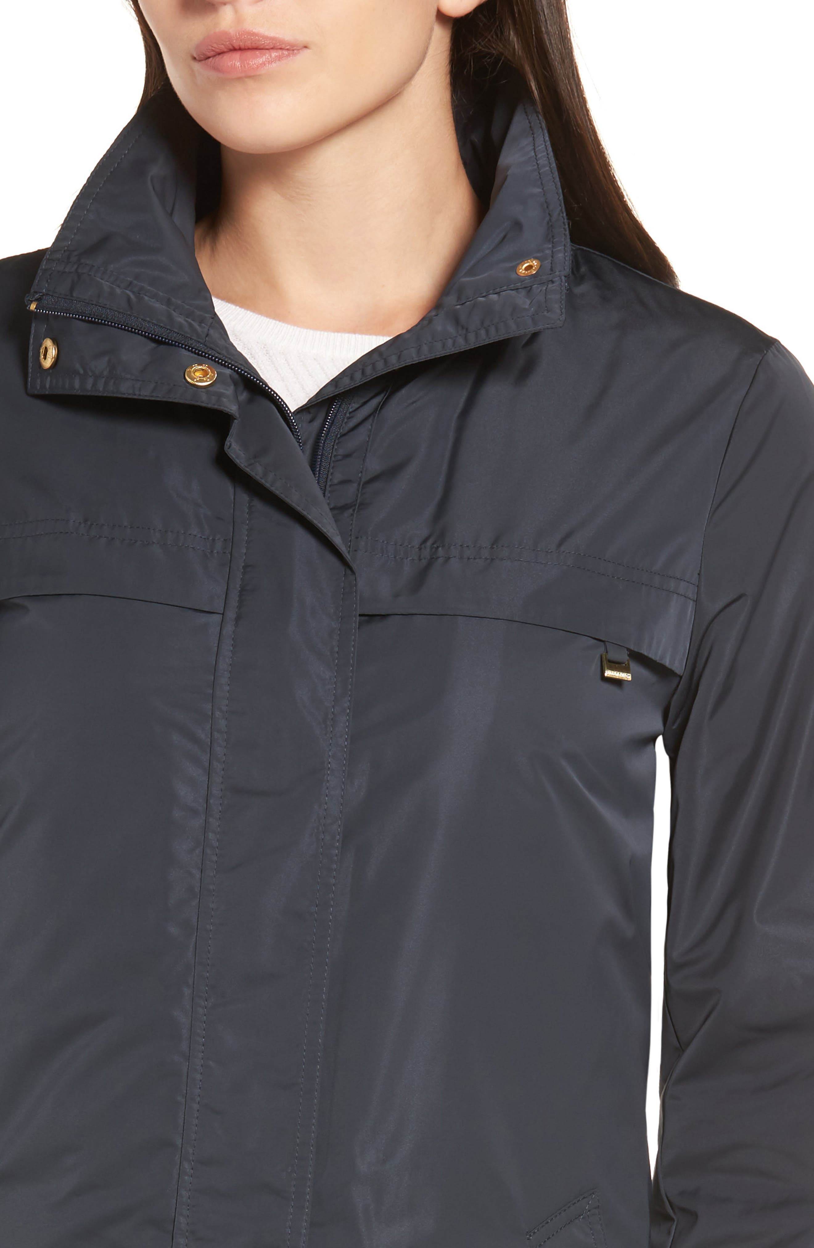 Raincoat with Detachable Hood,                             Alternate thumbnail 4, color,                             Navy