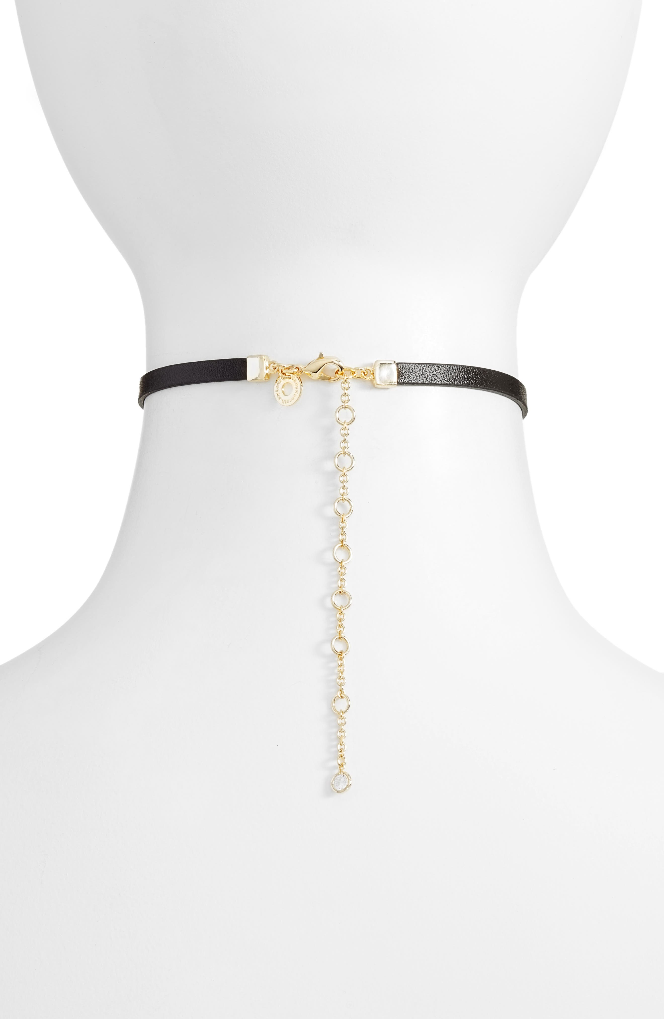 Alternate Image 2  - CZ by Kenneth Jay Lane Marquise Choker Necklace