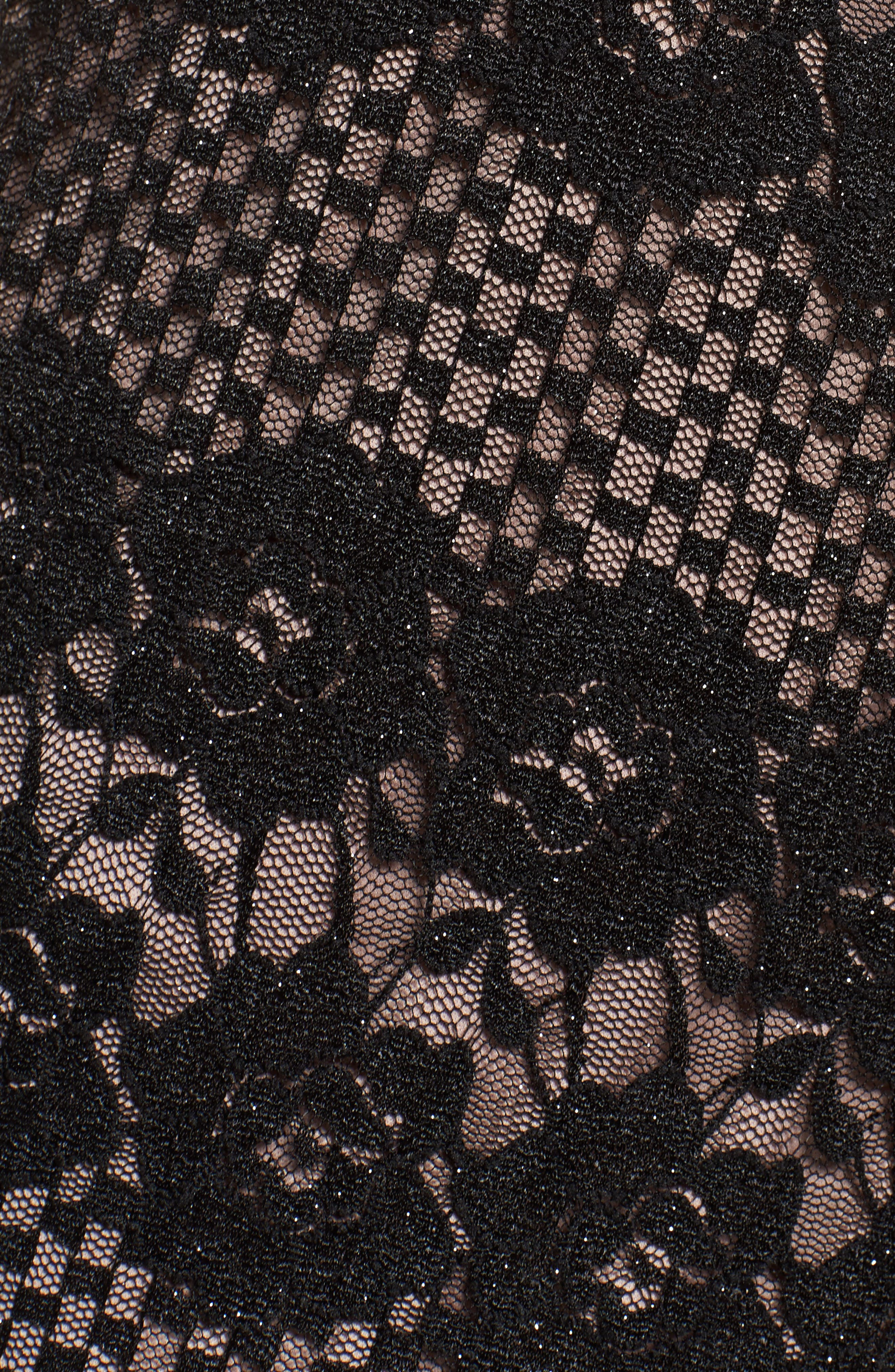 Alternate Image 5  - Morgan & Co. Mitered Lace Halter Body-Con Dress