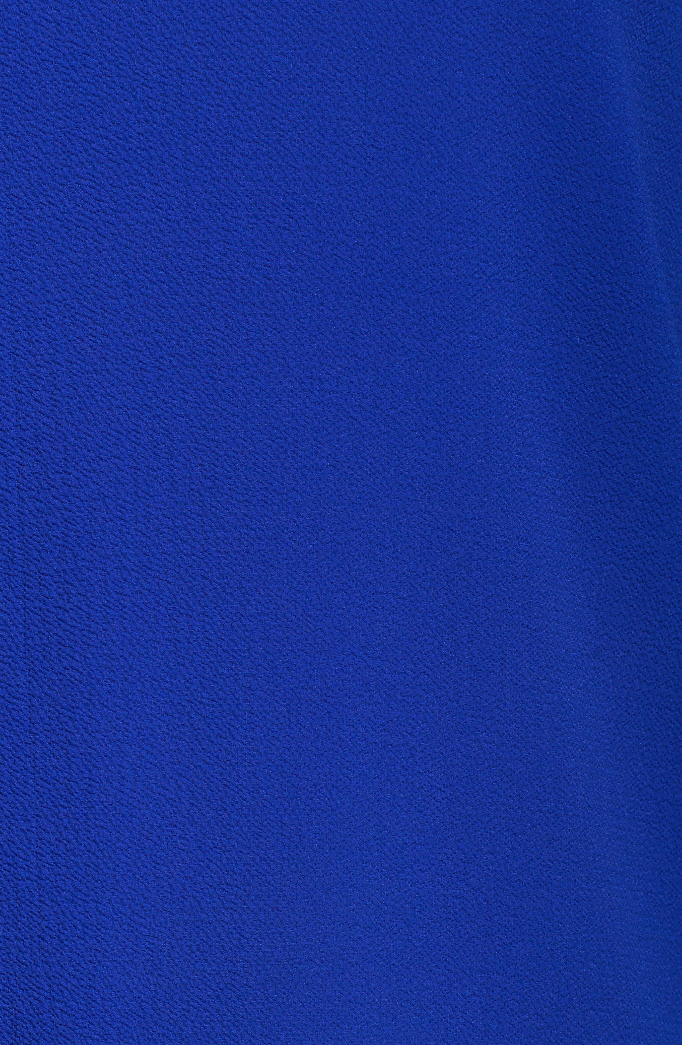 Flutter Sleeve Cold Shoulder Blouse,                             Alternate thumbnail 5, color,                             Vivid Blue