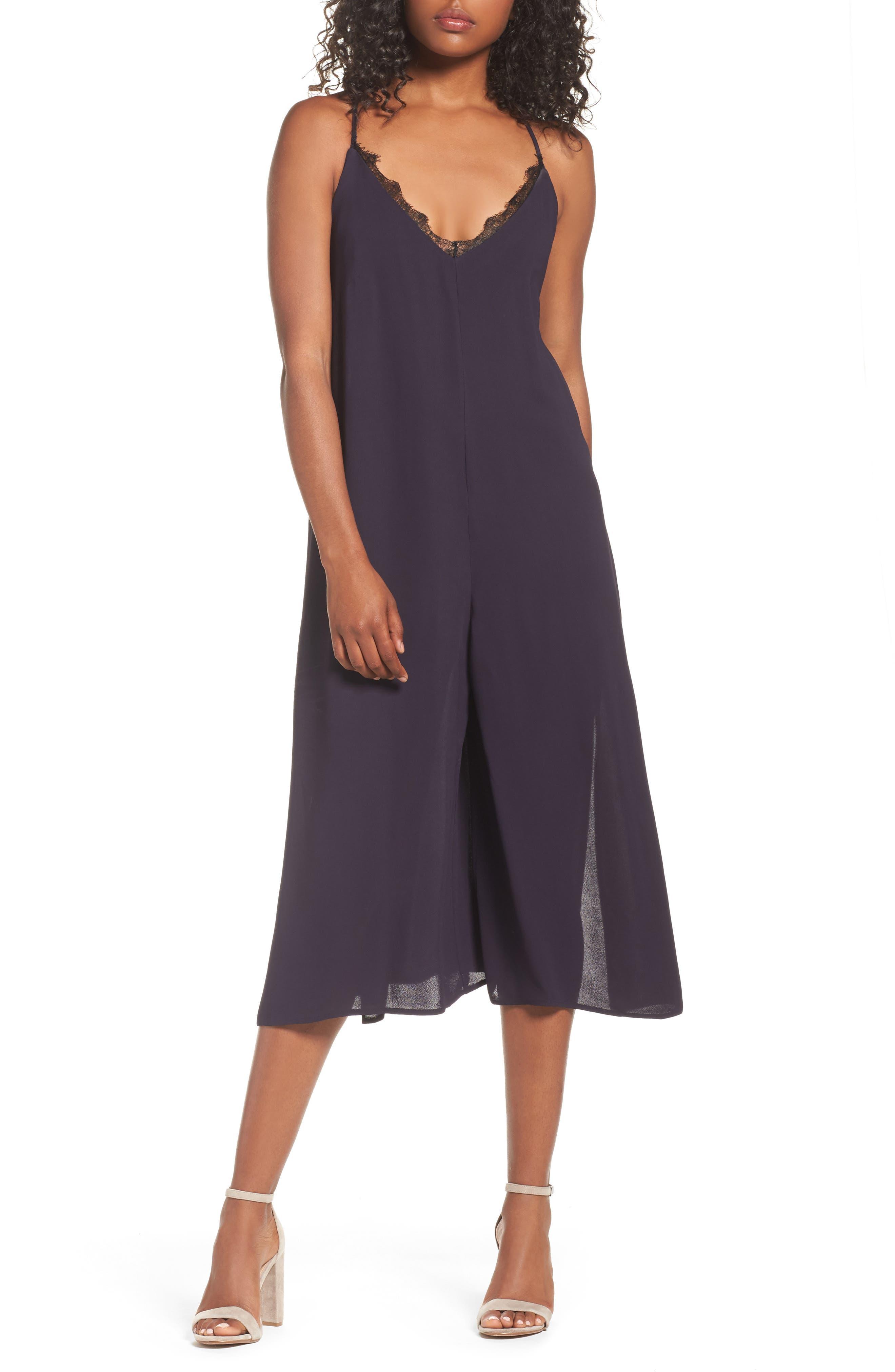 Esther Culotte Jumpsuit,                         Main,                         color, Utility Blue