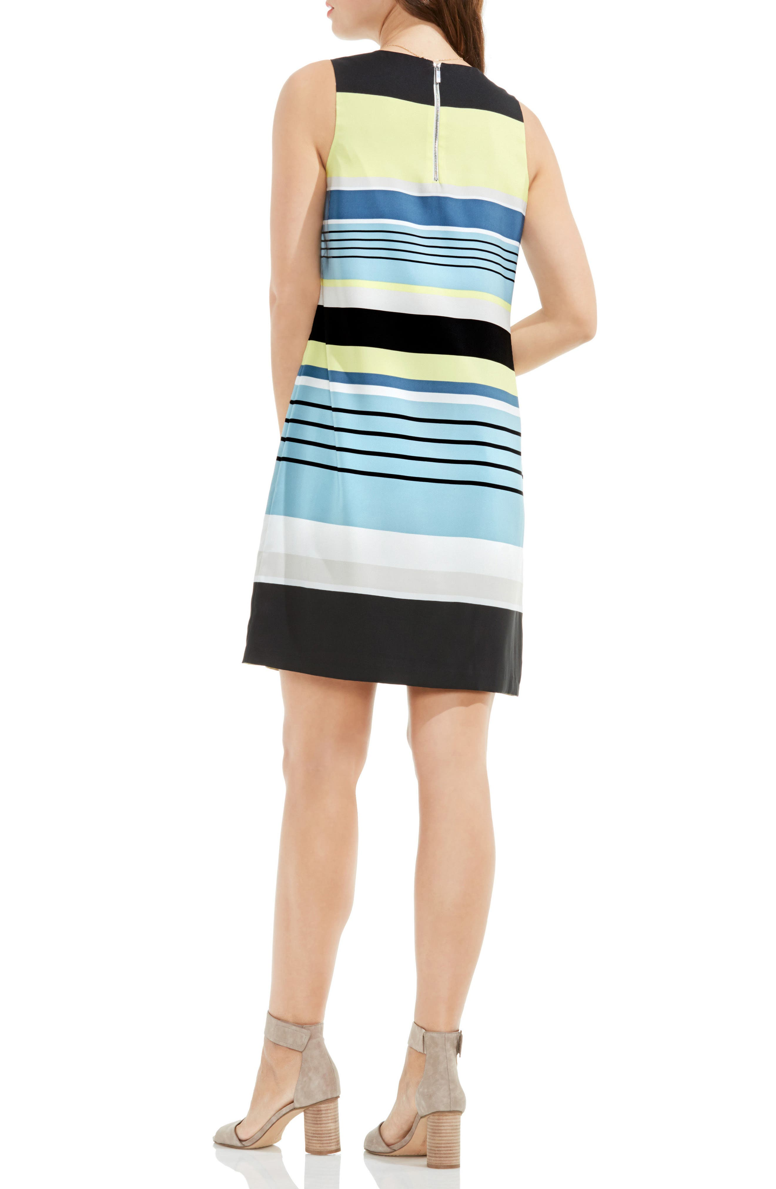 Alternate Image 2  - Vince Camuto Stripe Harmony Shift Dress