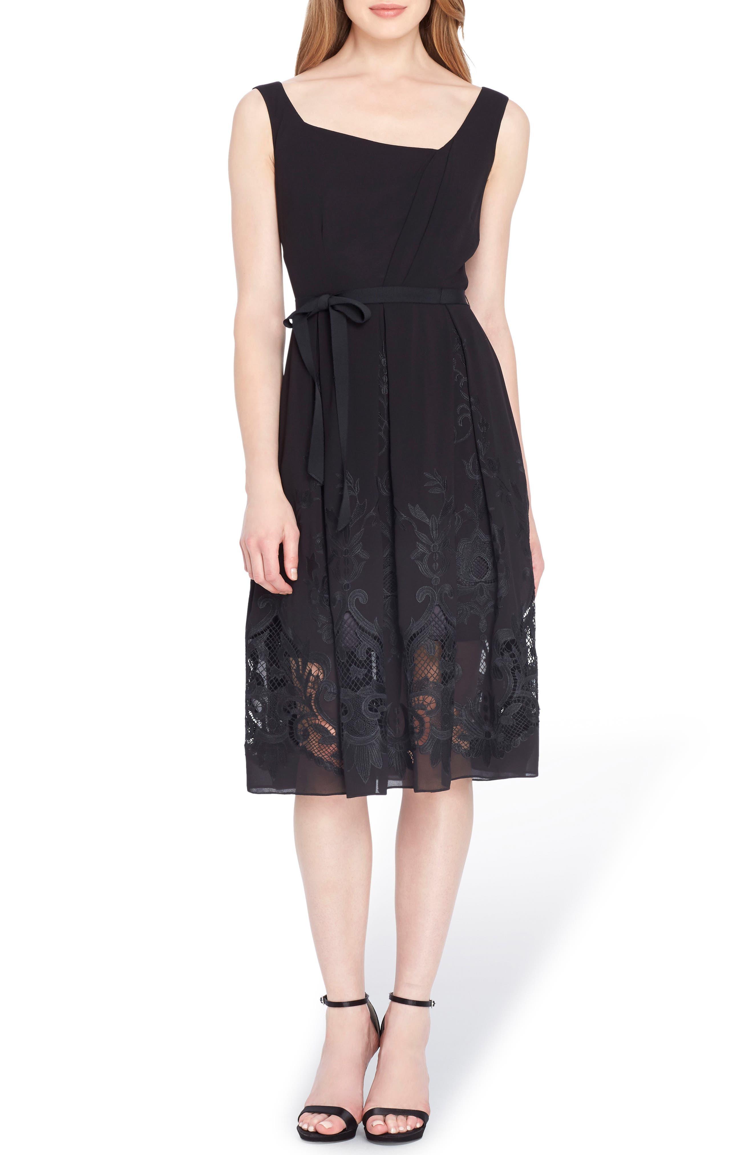 Alternate Image 1 Selected - Tahari Lace Fit & Flare Dress