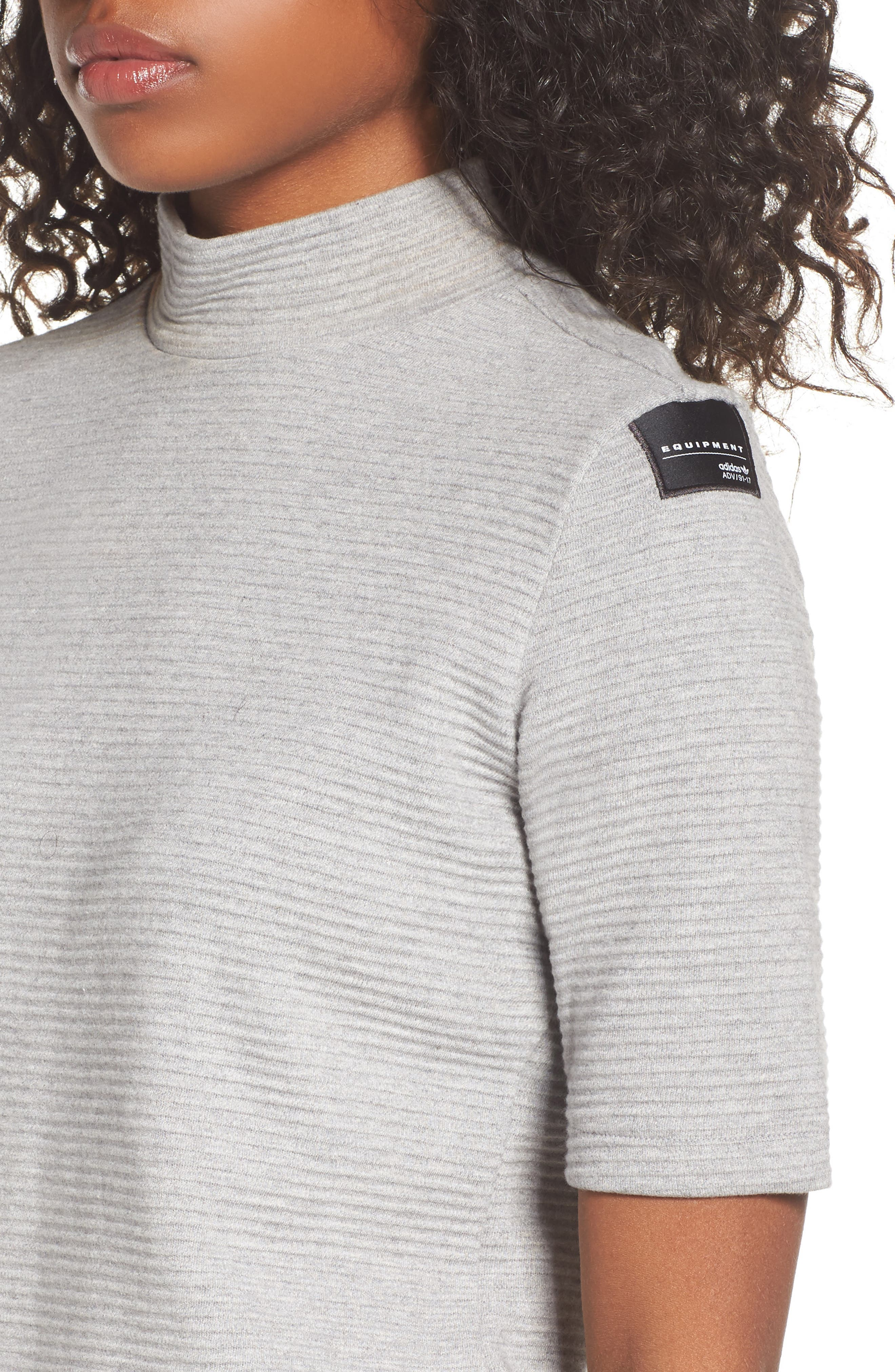 Originals EQT Sweatshirt,                             Alternate thumbnail 4, color,                             Medium Grey Heather
