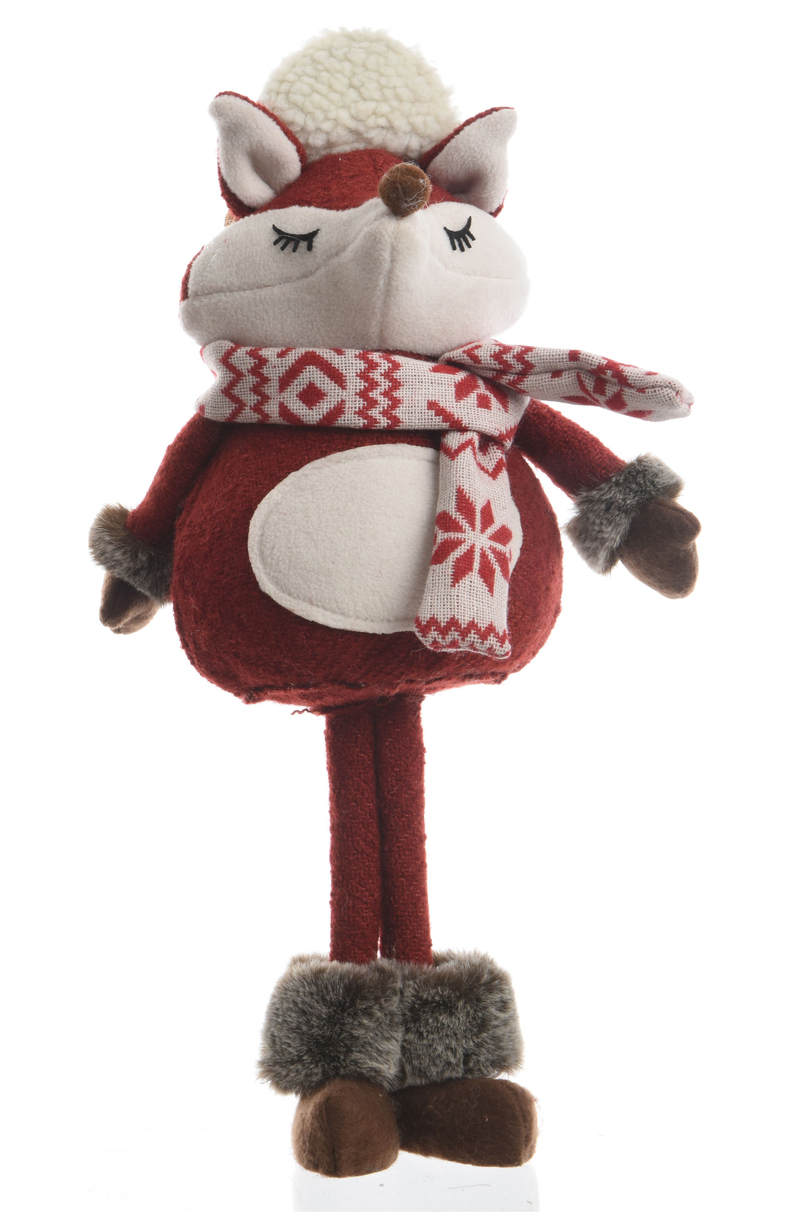 Standing Fox Figurine,                         Main,                         color, Red