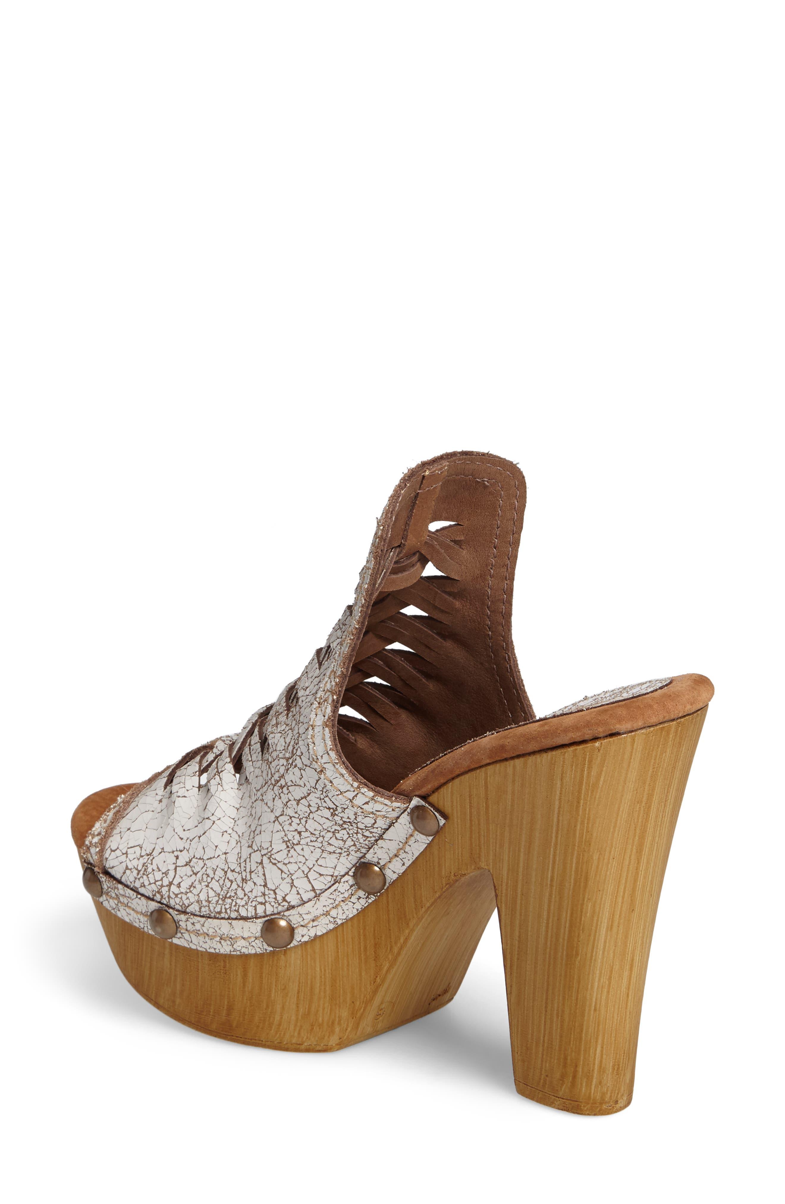 Kinga Platform Sandal,                             Alternate thumbnail 2, color,                             White Leather