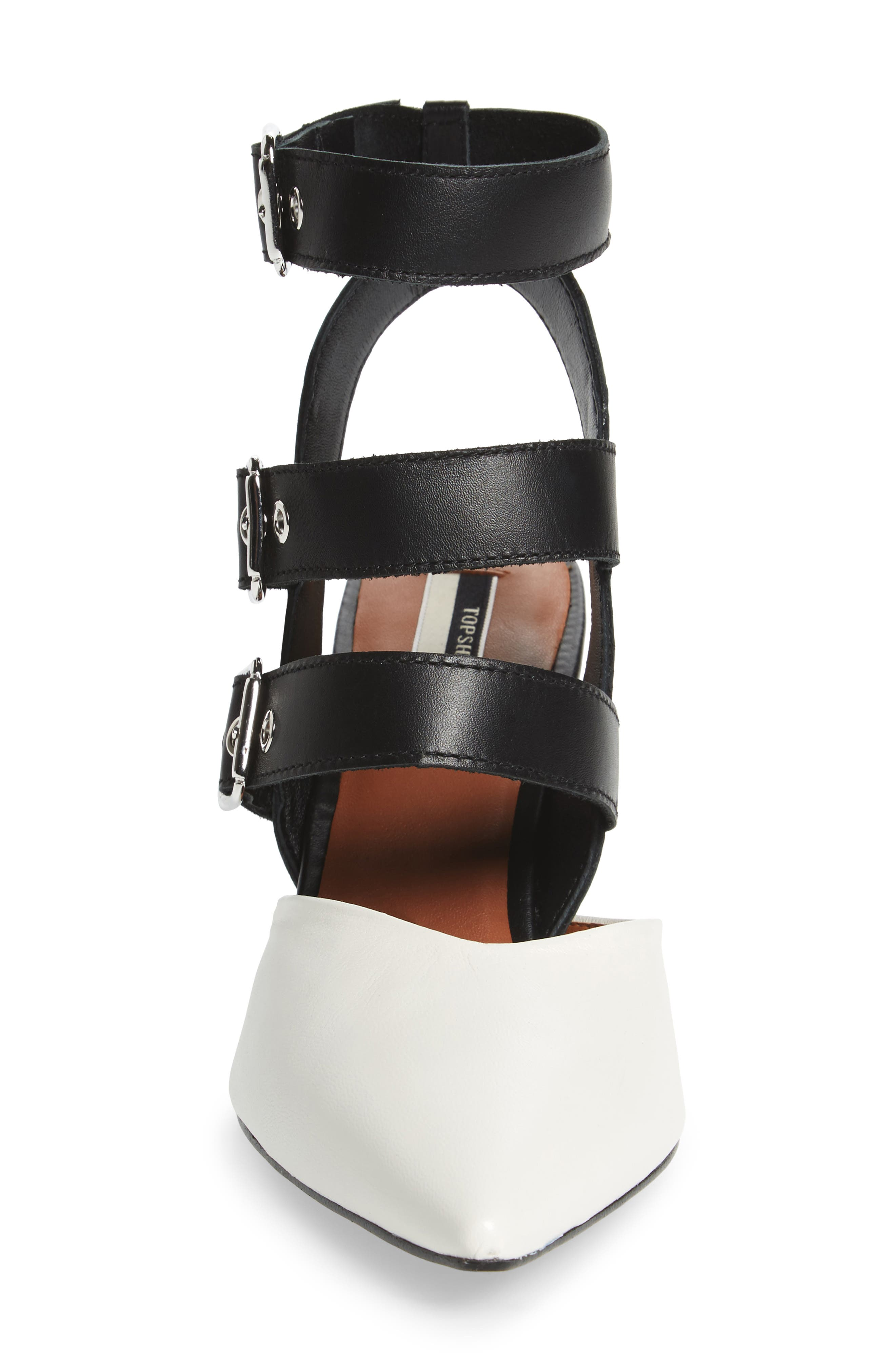 Alternate Image 4  - Topshop Jockey Buckle Pointy Toe Pump (Women)