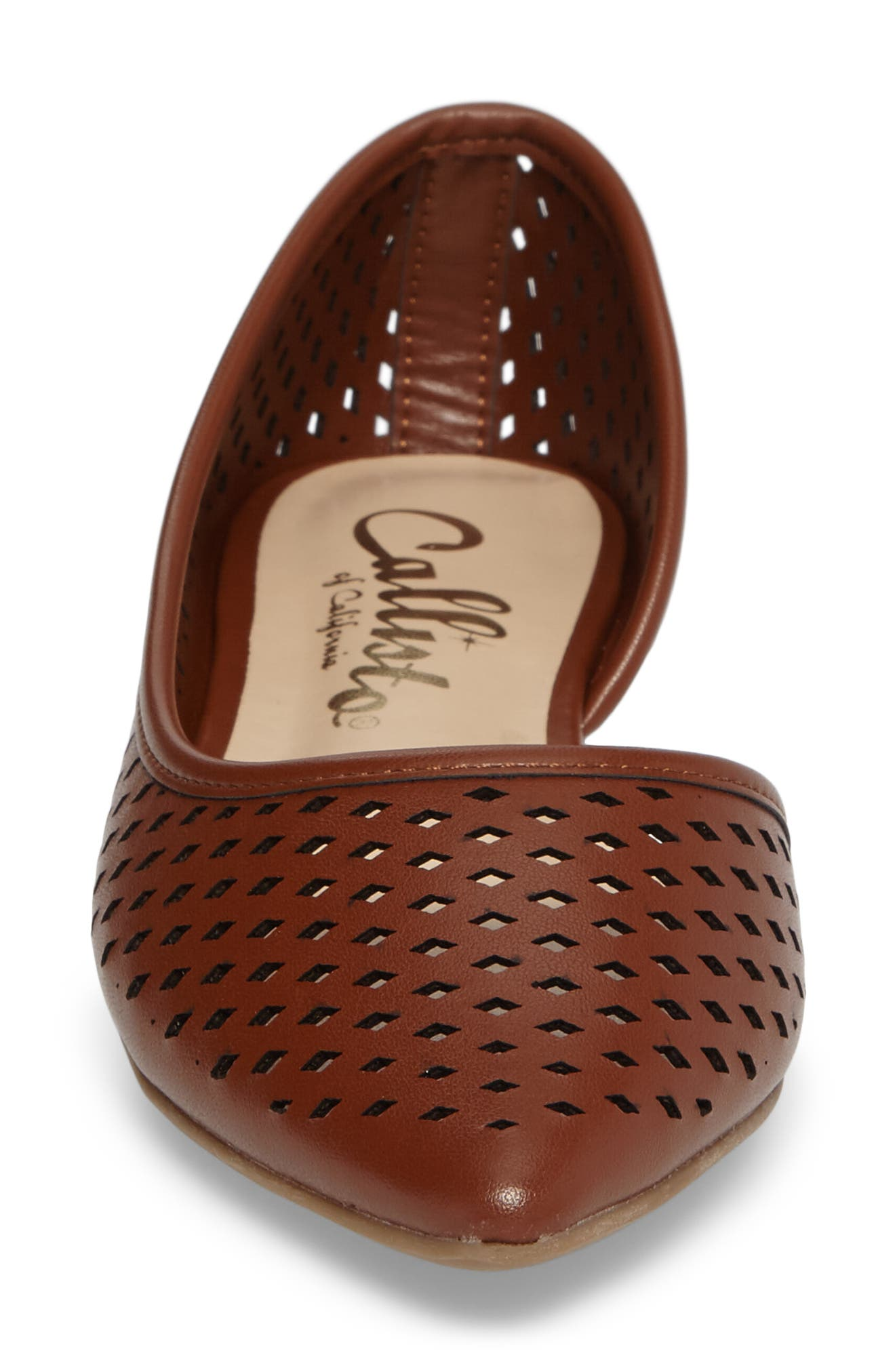 Swiftye Half d'Orsay Flat,                             Alternate thumbnail 4, color,                             Tan Synthetic Leather