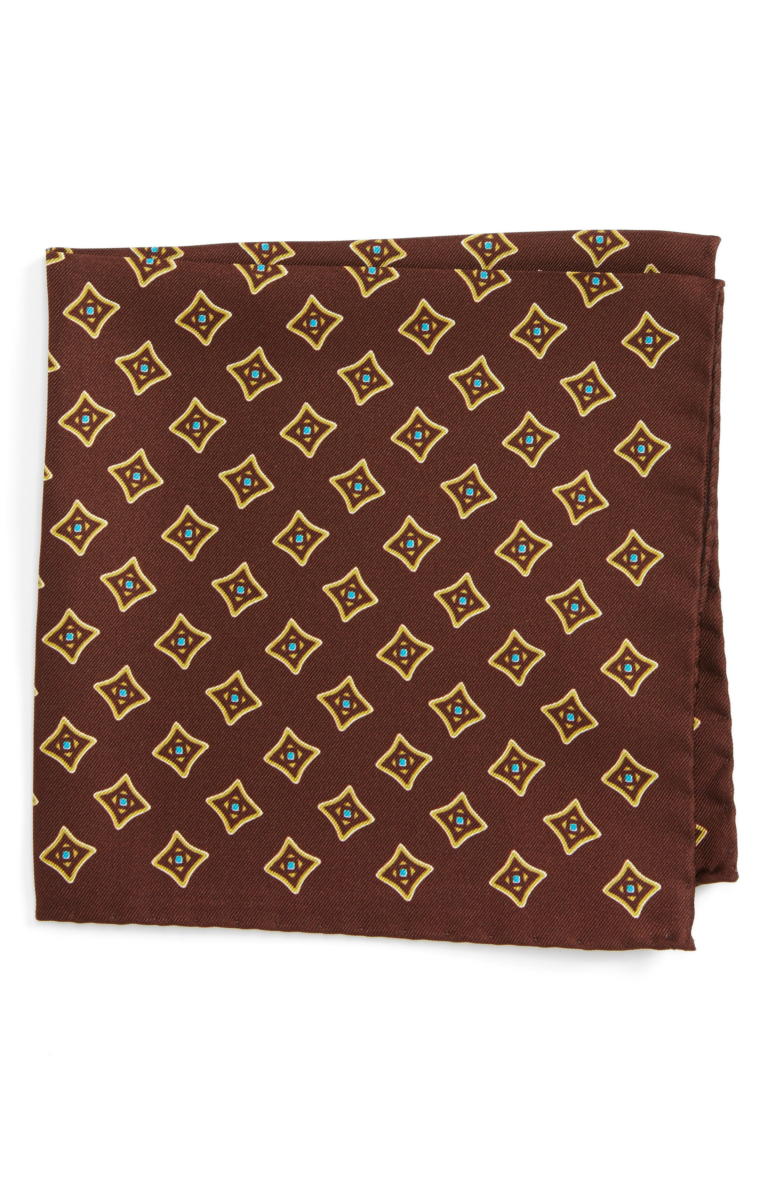 Eton Medallion Silk Pocket Square