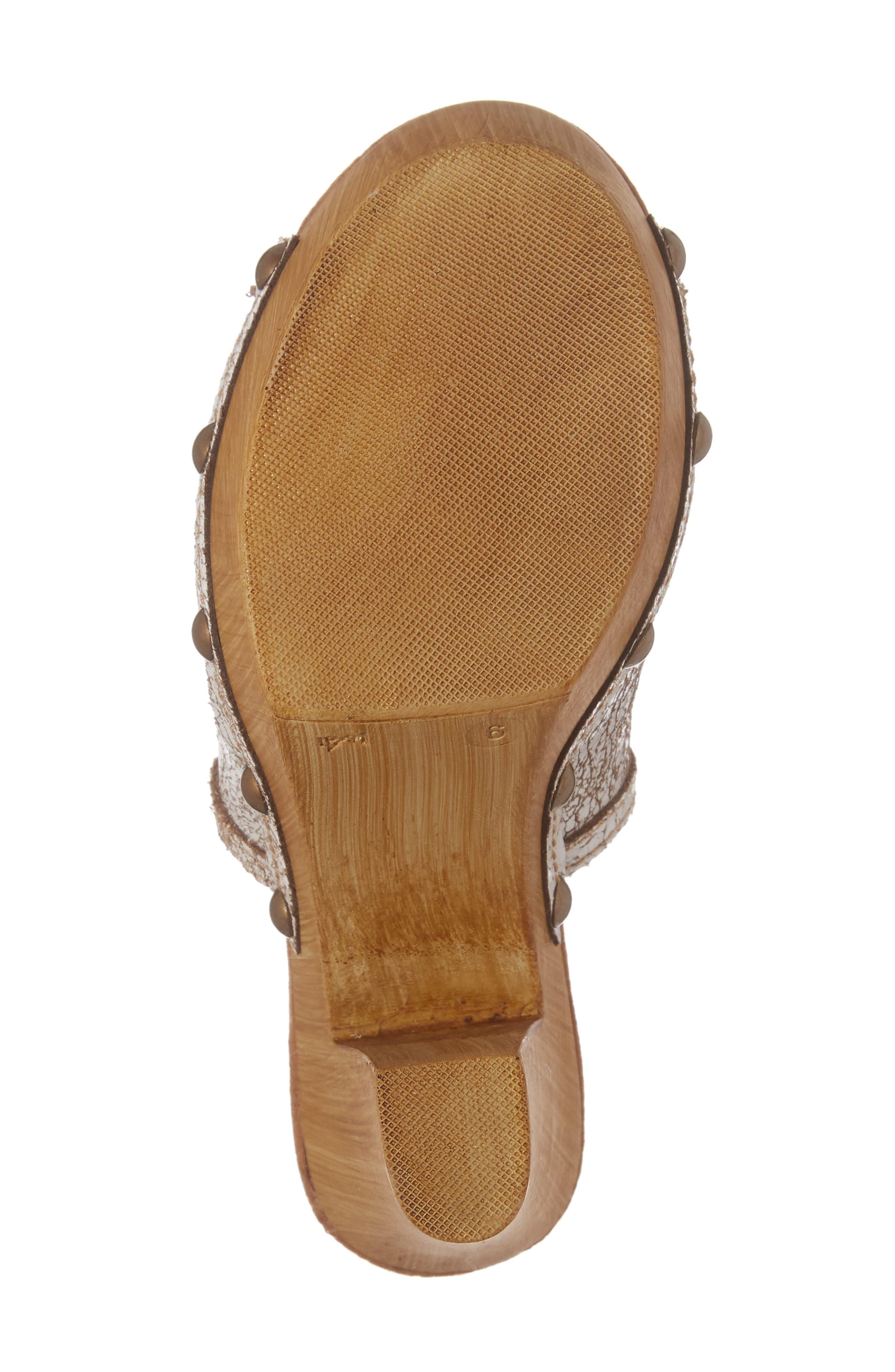 Kinga Platform Sandal,                             Alternate thumbnail 6, color,                             White Leather