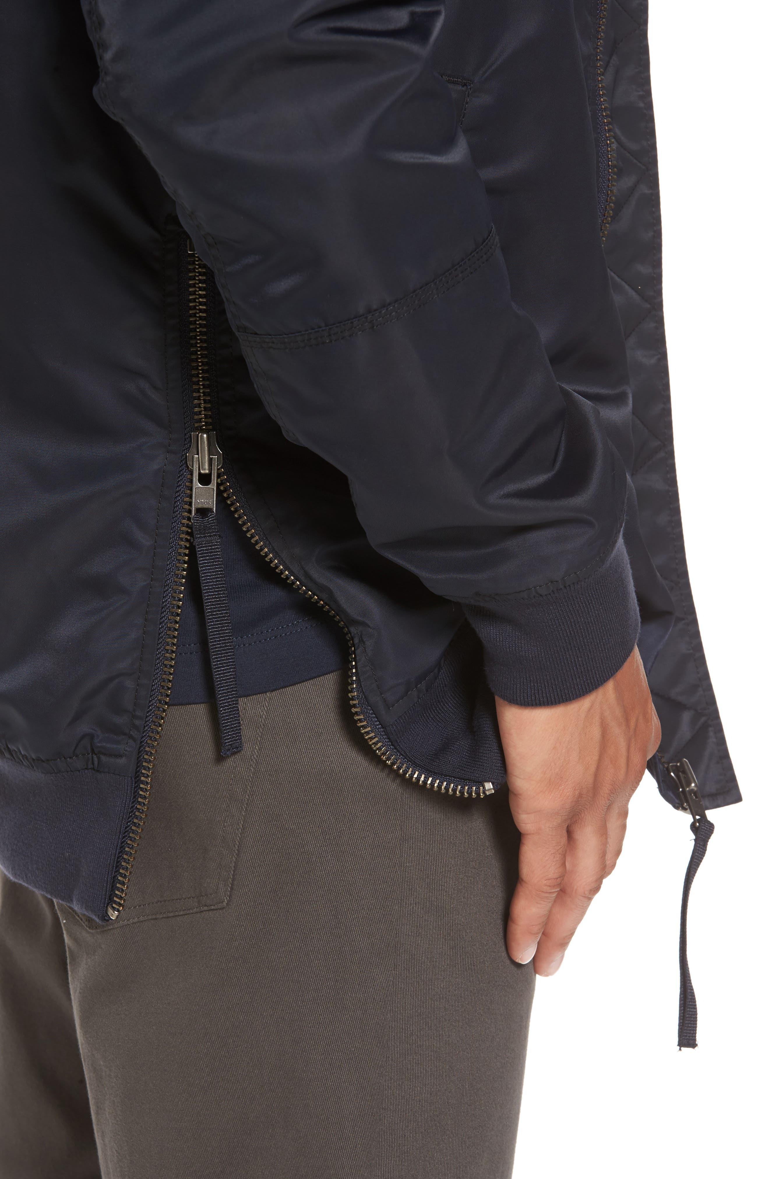 Alternate Image 4  - Vince Longline Aviator Jacket