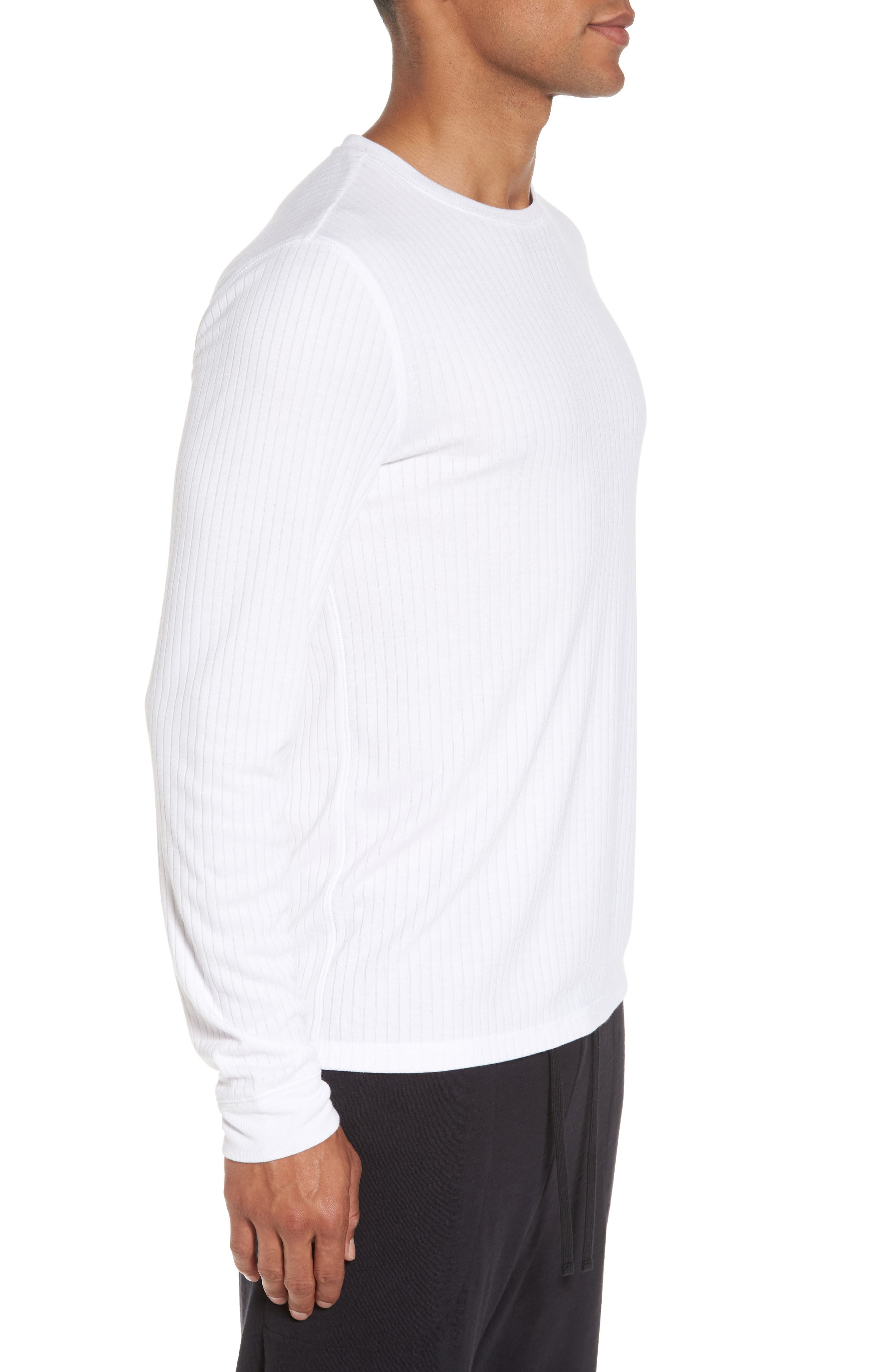 Ribbed Pullover,                             Alternate thumbnail 3, color,                             Optic White