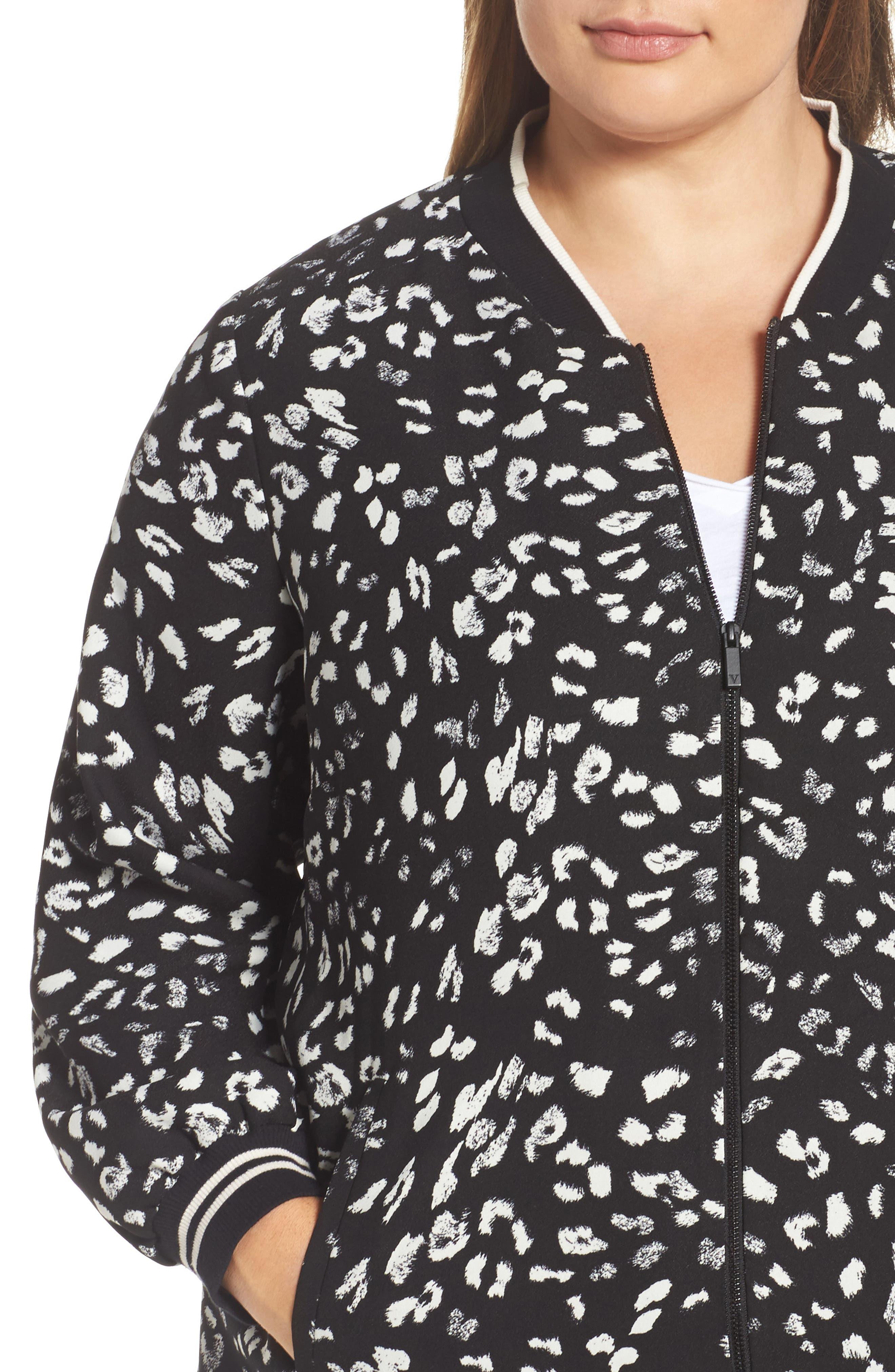 Alternate Image 4  - Vince Camuto Animal Whispers Bomber Jacket (Plus Size)