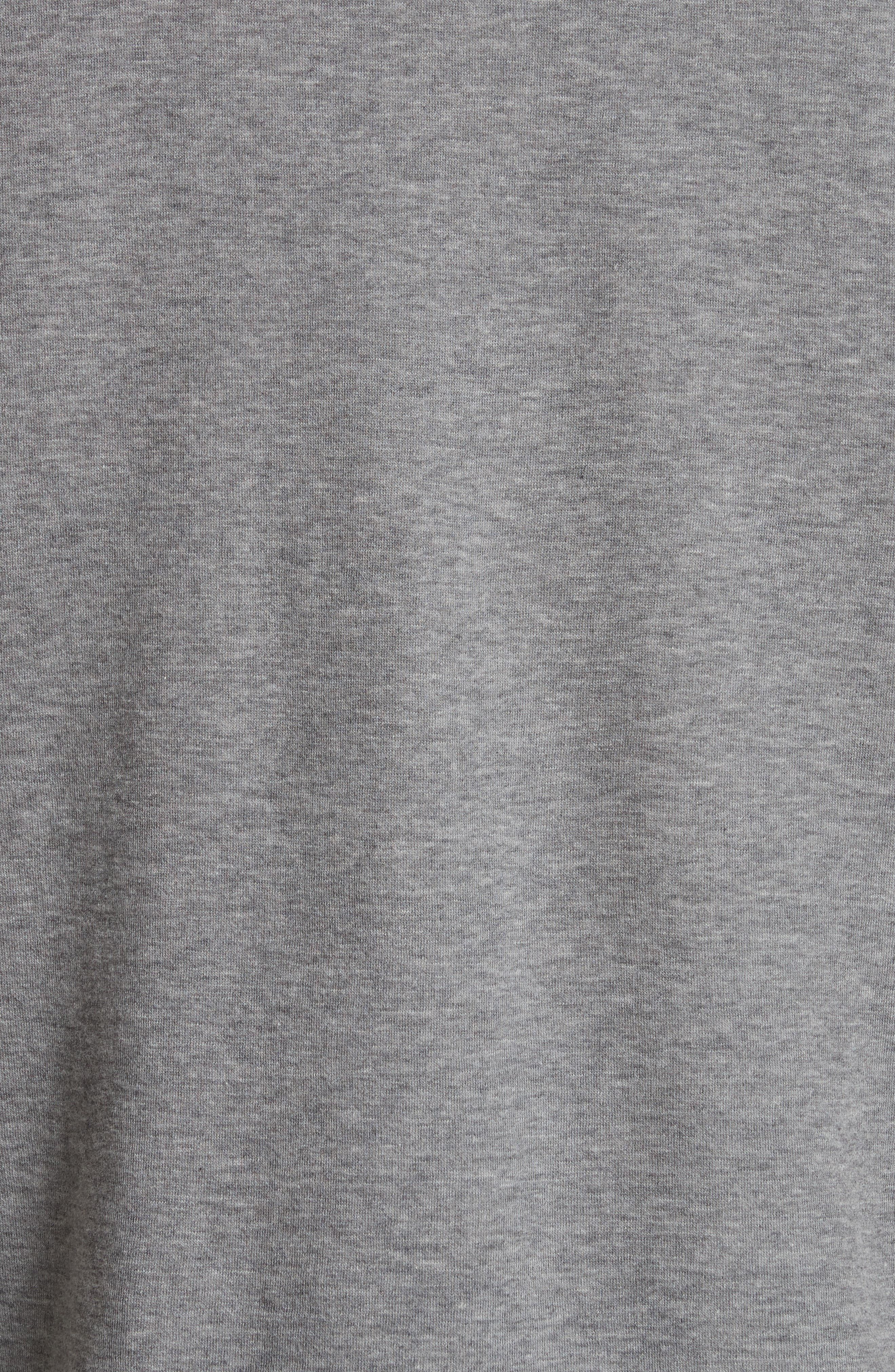Print Fleece T-Shirt,                             Alternate thumbnail 5, color,                             Grey Melange