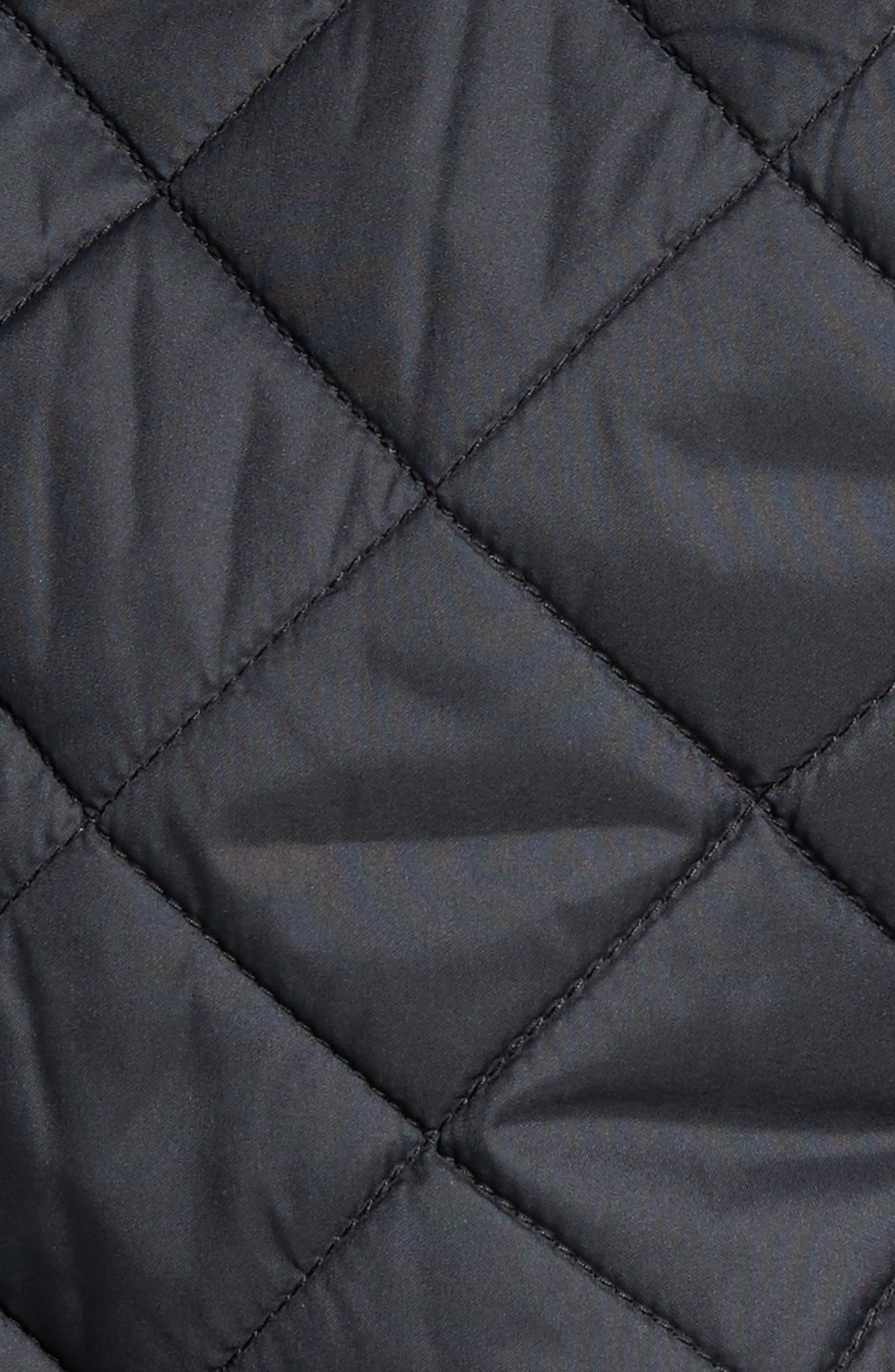 Suffolk Quilted Water-Resistant Car Coat,                             Alternate thumbnail 5, color,                             Black