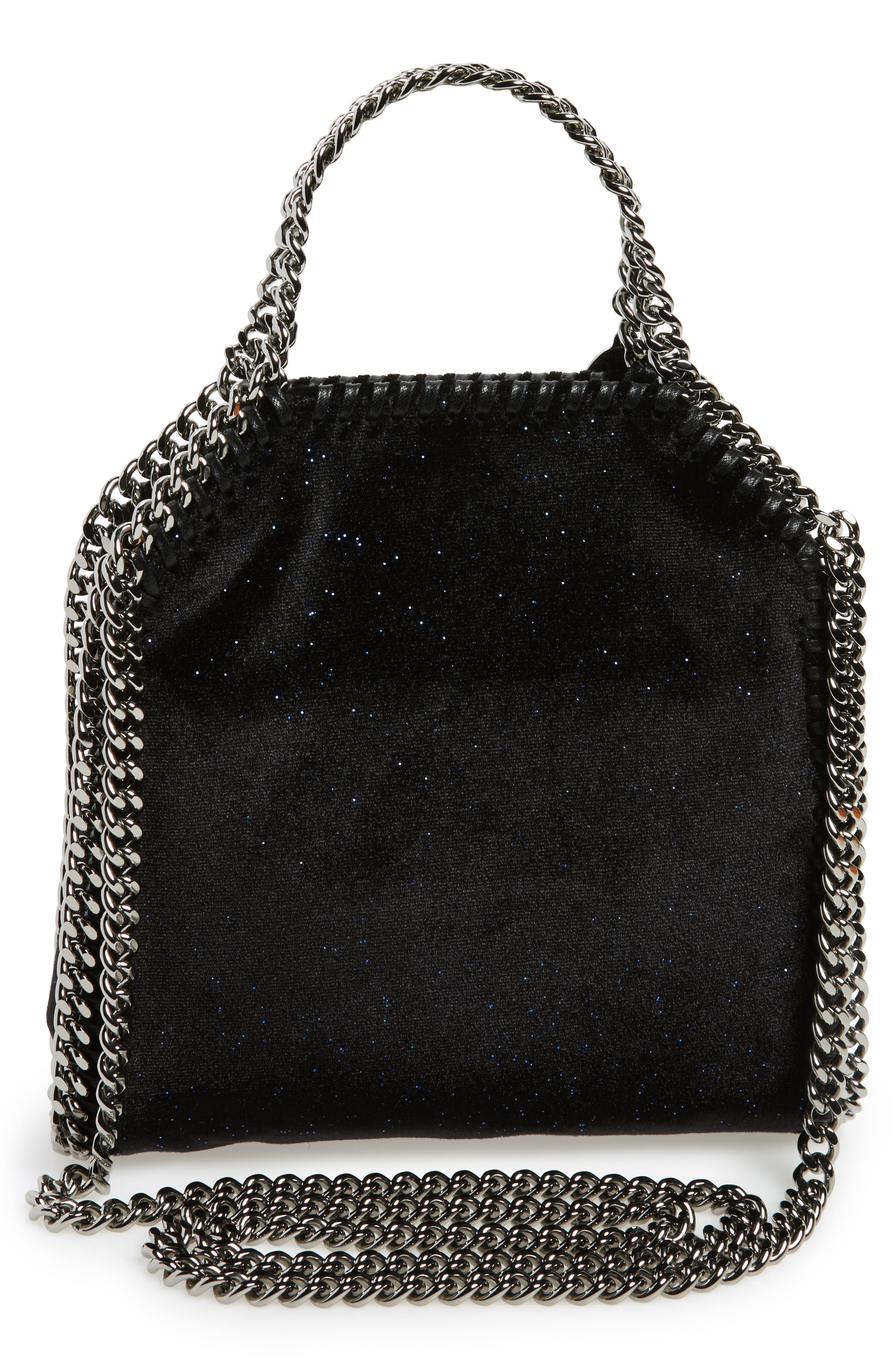 Tiny Falabella Glitter Crossbody Bag,                             Alternate thumbnail 2, color,                             Black/ Navy