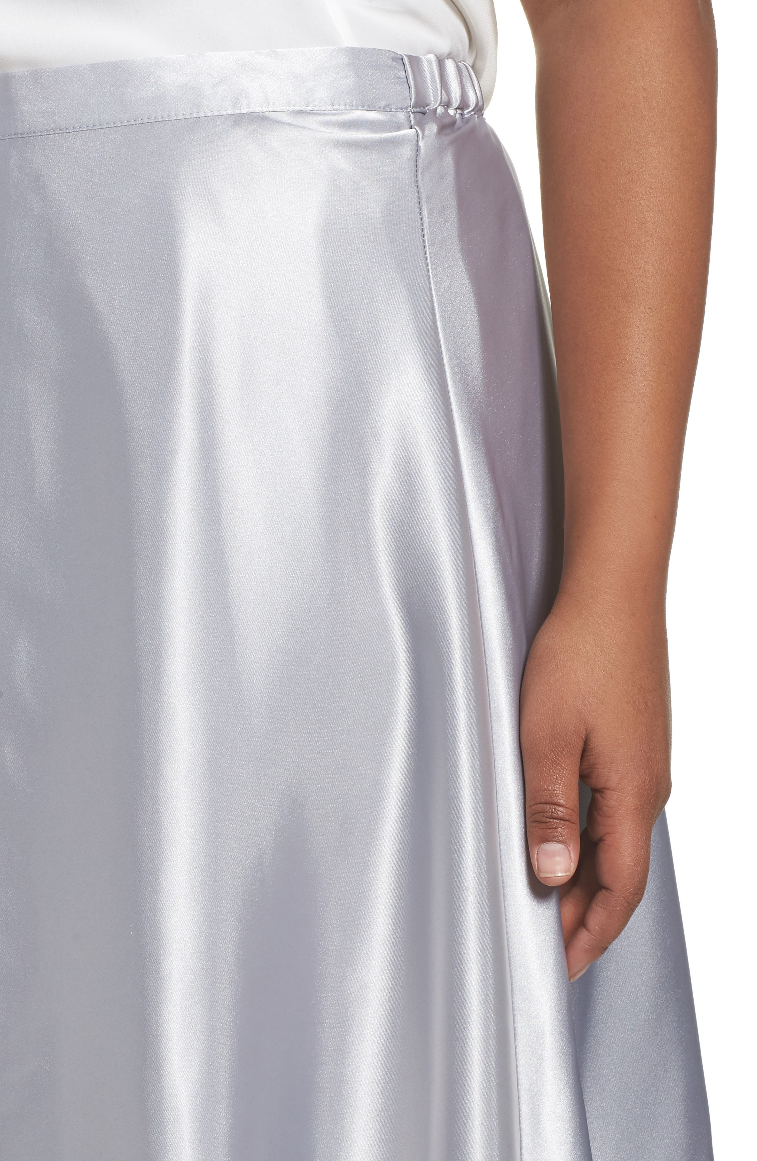 Alternate Image 4  - Alex Evenings Full Charmeuse Tea-Length Skirt (Plus Size)