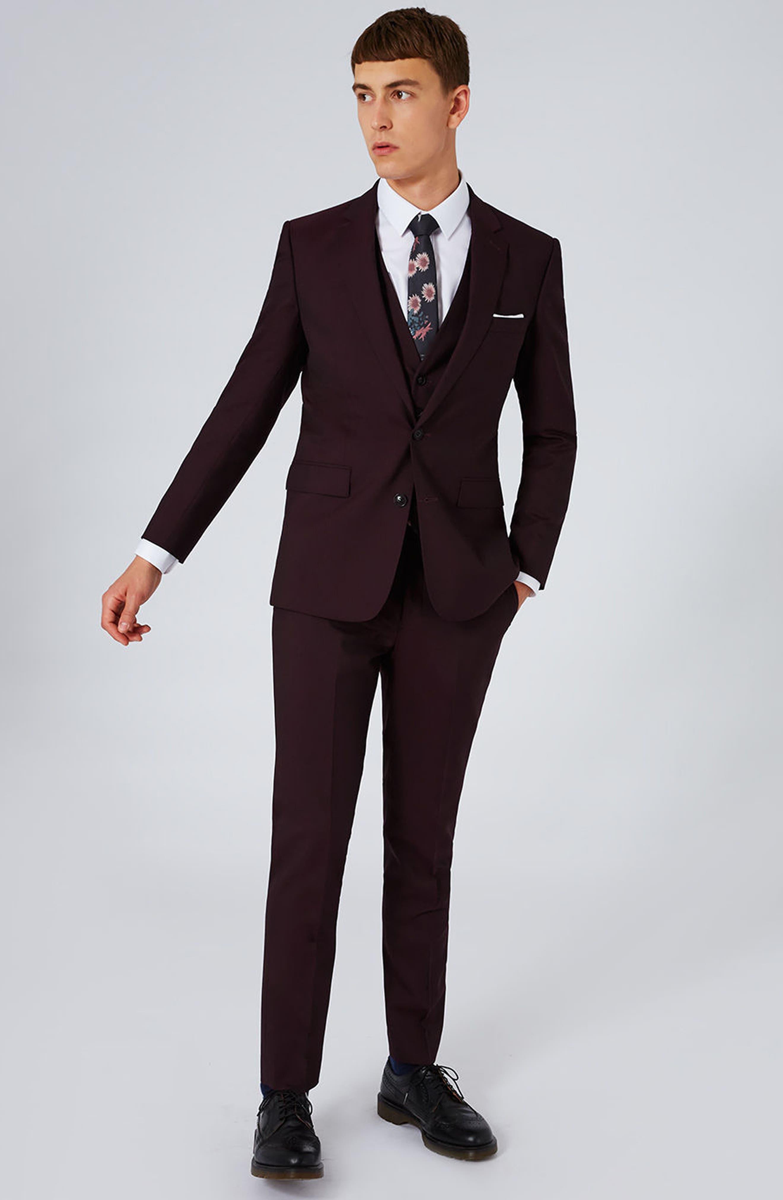 Alternate Image 2  - Charlie Casely-Hayford x Topman Skinny Fit Suit Jacket