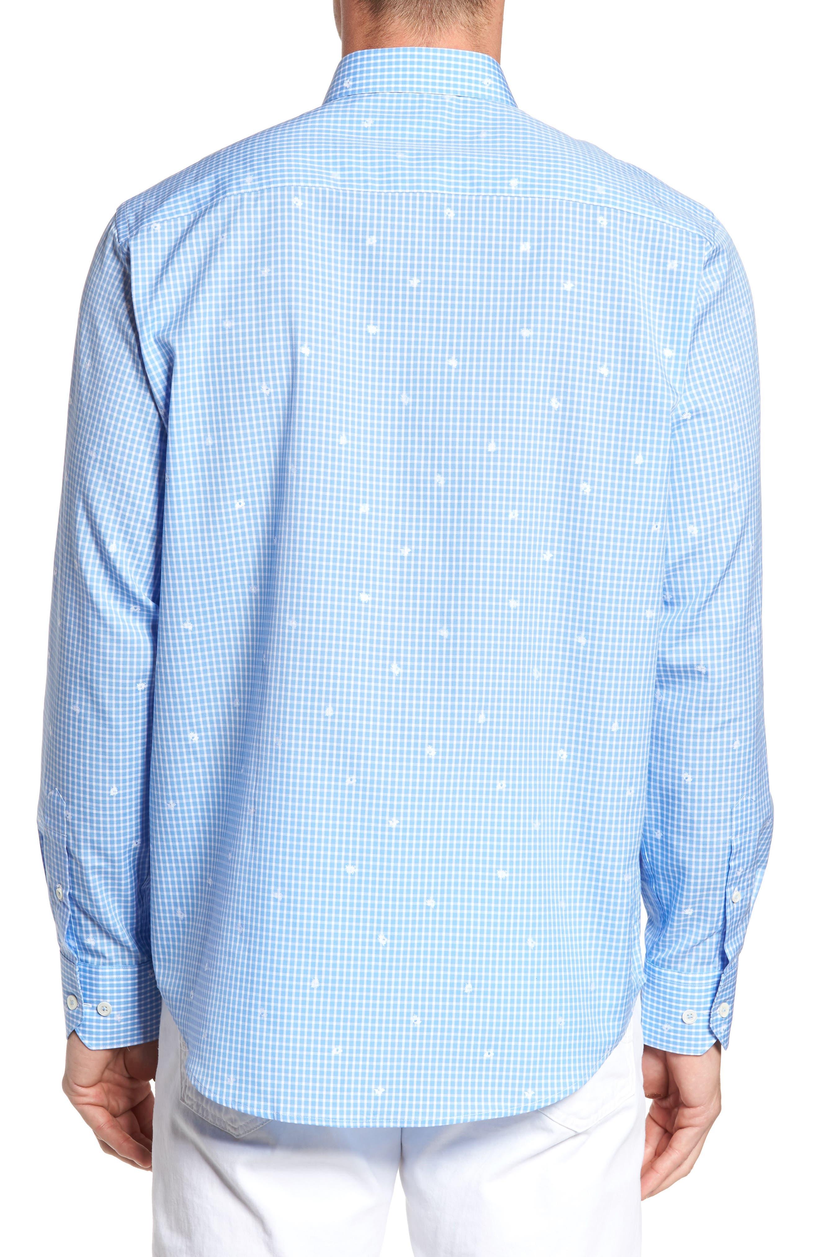 Alternate Image 2  - Bugatchi Classic Fit Windowpane Sport Shirt