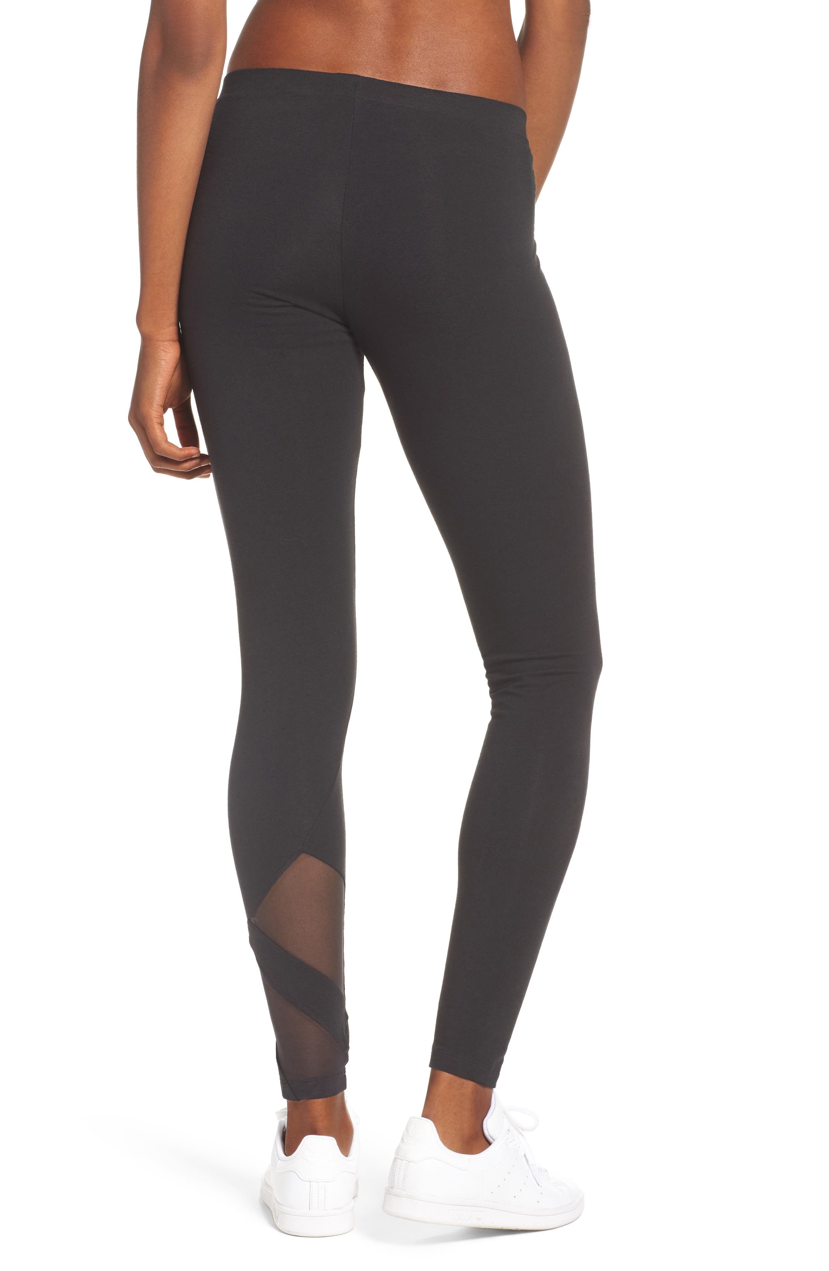 EQT Asymmetrical Leggings,                             Alternate thumbnail 2, color,                             Black/ Black