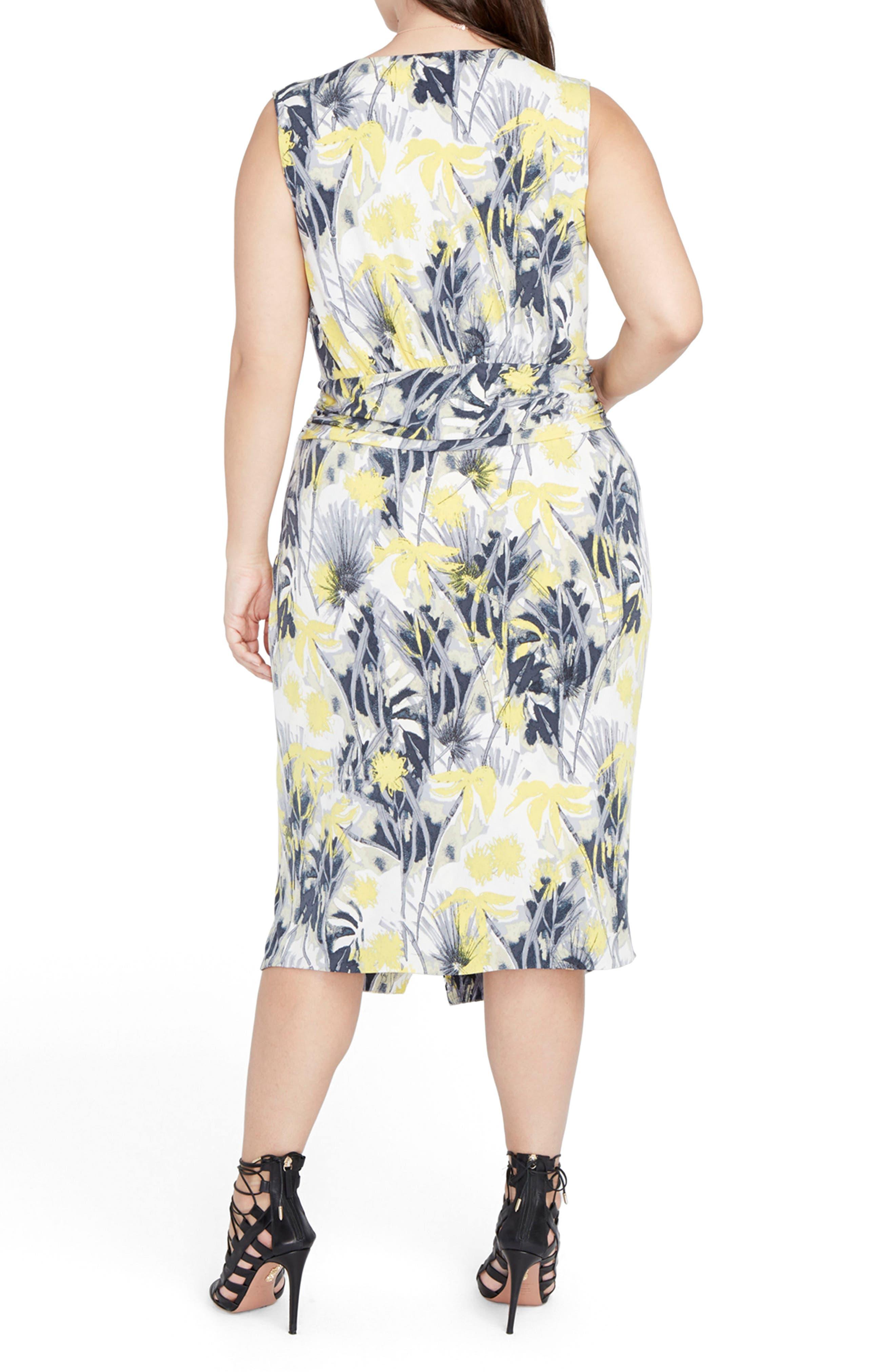 Alternate Image 3  - RACHEL Rachel Roy Print Ruched Waist Midi Dress (Plus Size)
