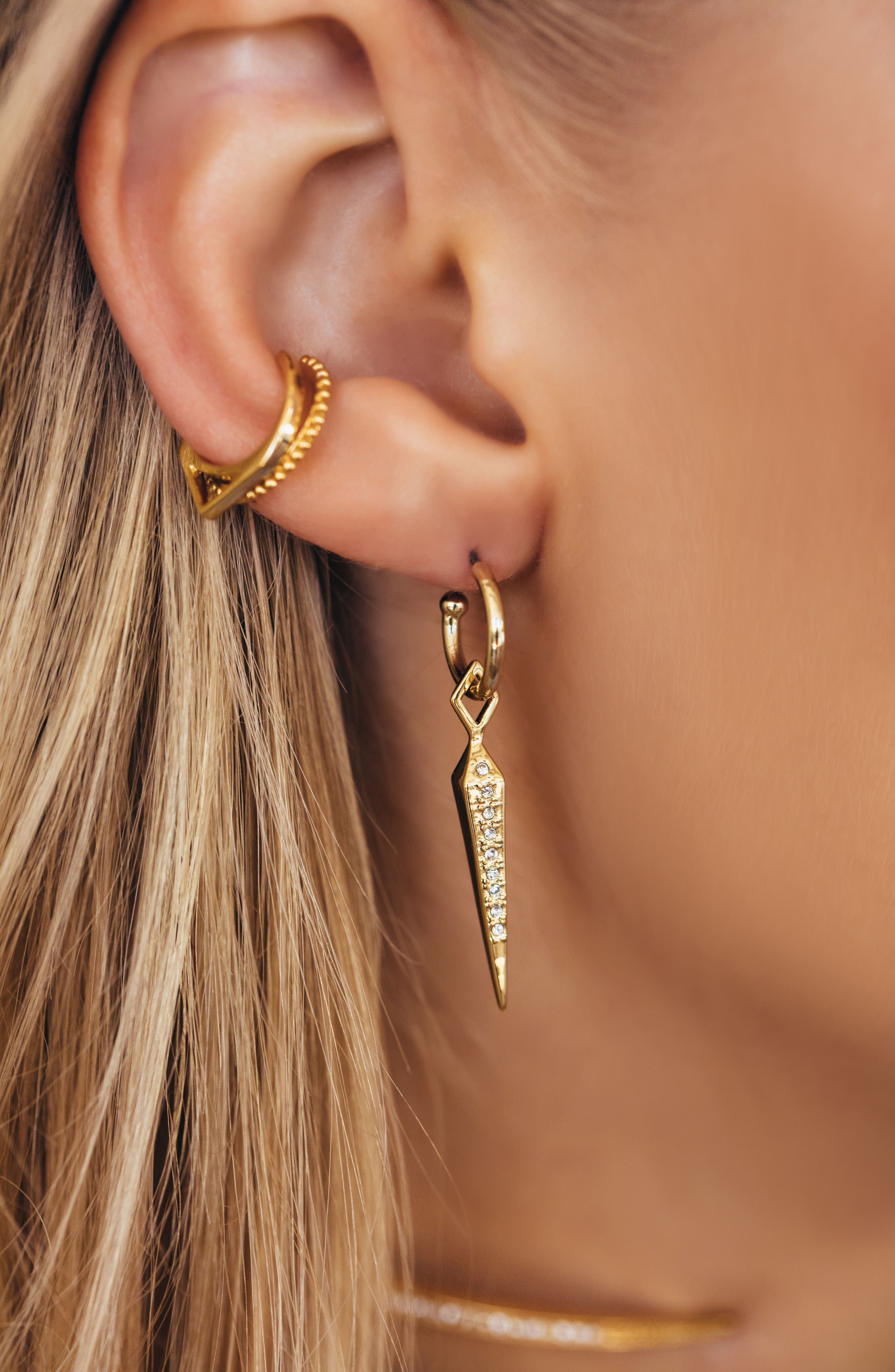 Spike Drop Earrings,                             Alternate thumbnail 2, color,