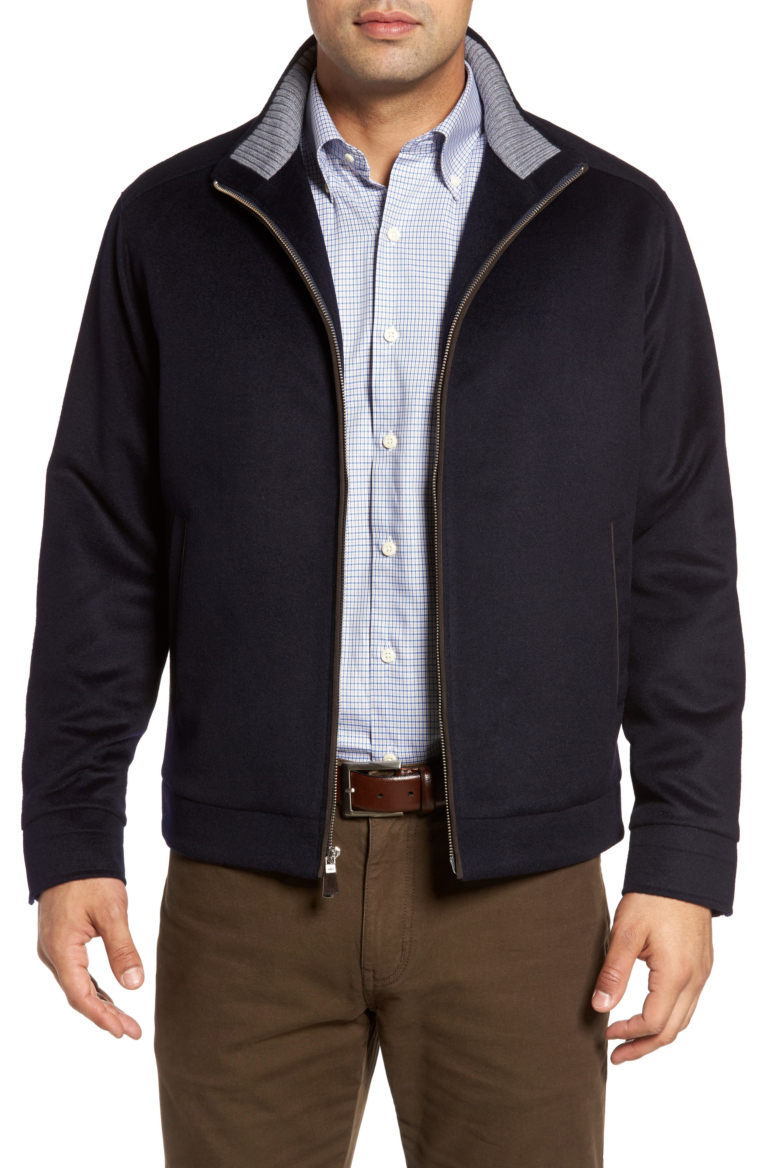 Westport Wool & Cashmere Jacket,                             Main thumbnail 1, color,                             Navy