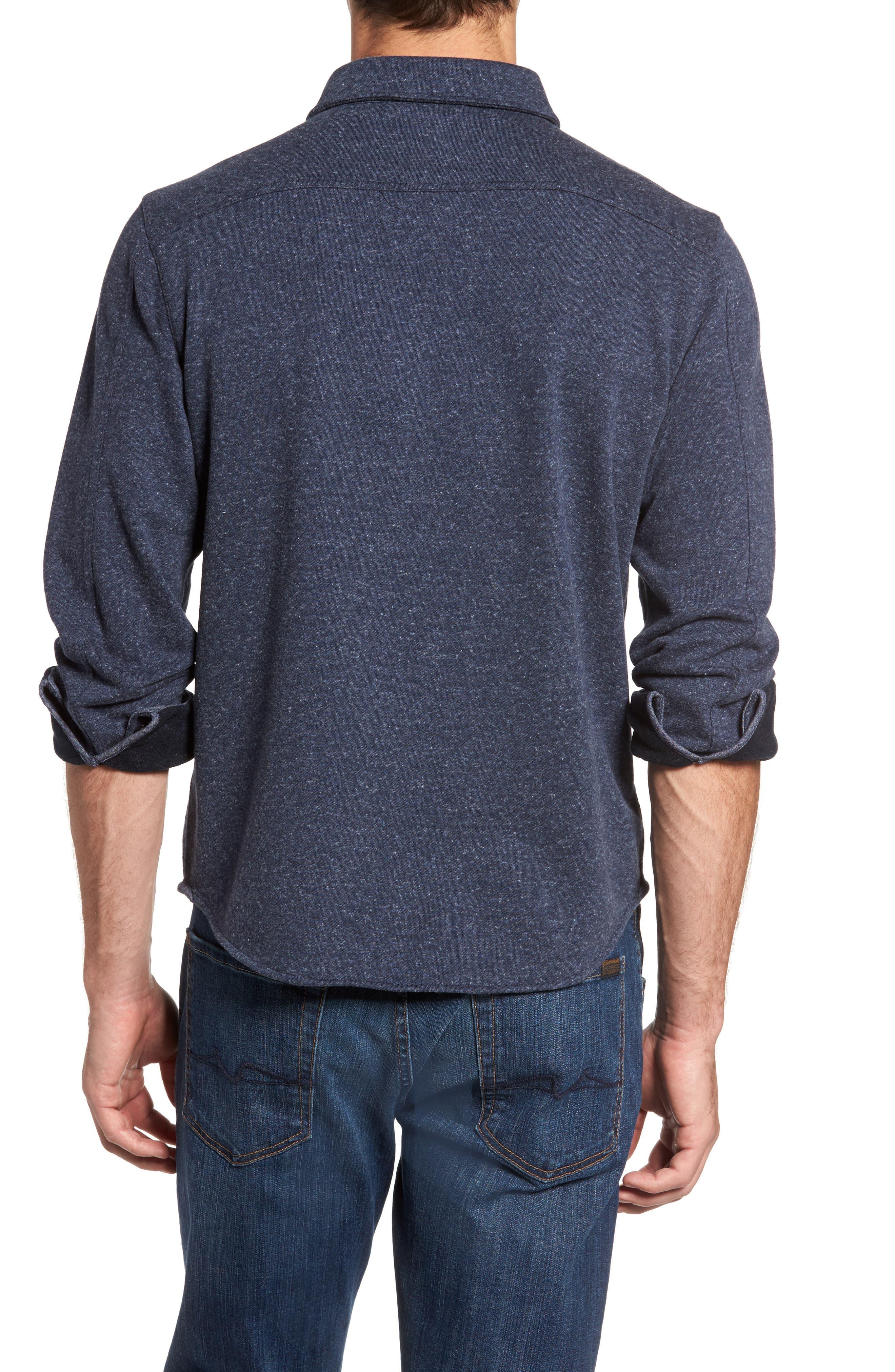 Bayswater Modern Fit Heathered Shirt Jacket,                             Alternate thumbnail 2, color,                             Navy Heather