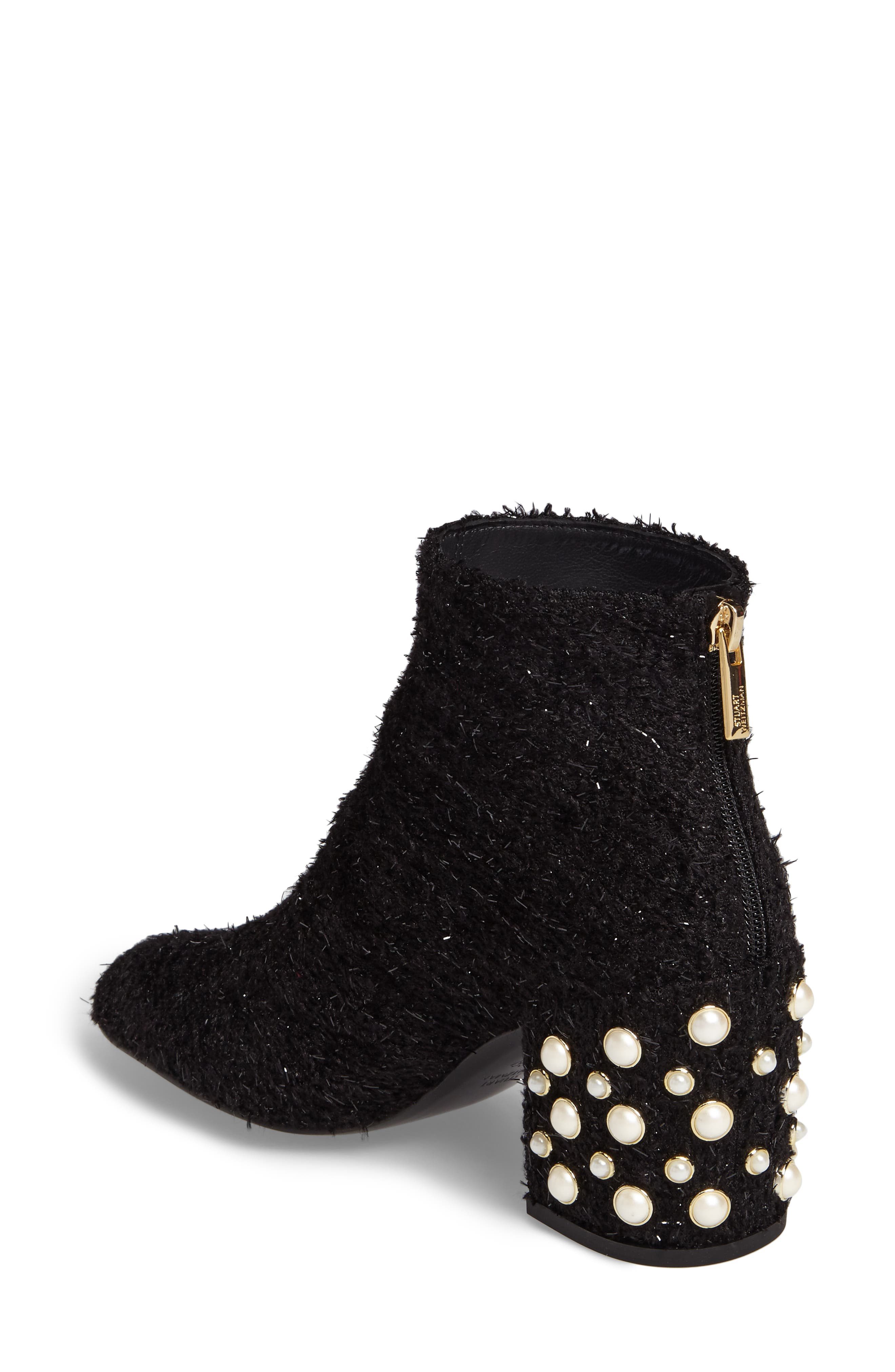 Pearlbacari Bootie,                             Alternate thumbnail 2, color,                             Black Boucle