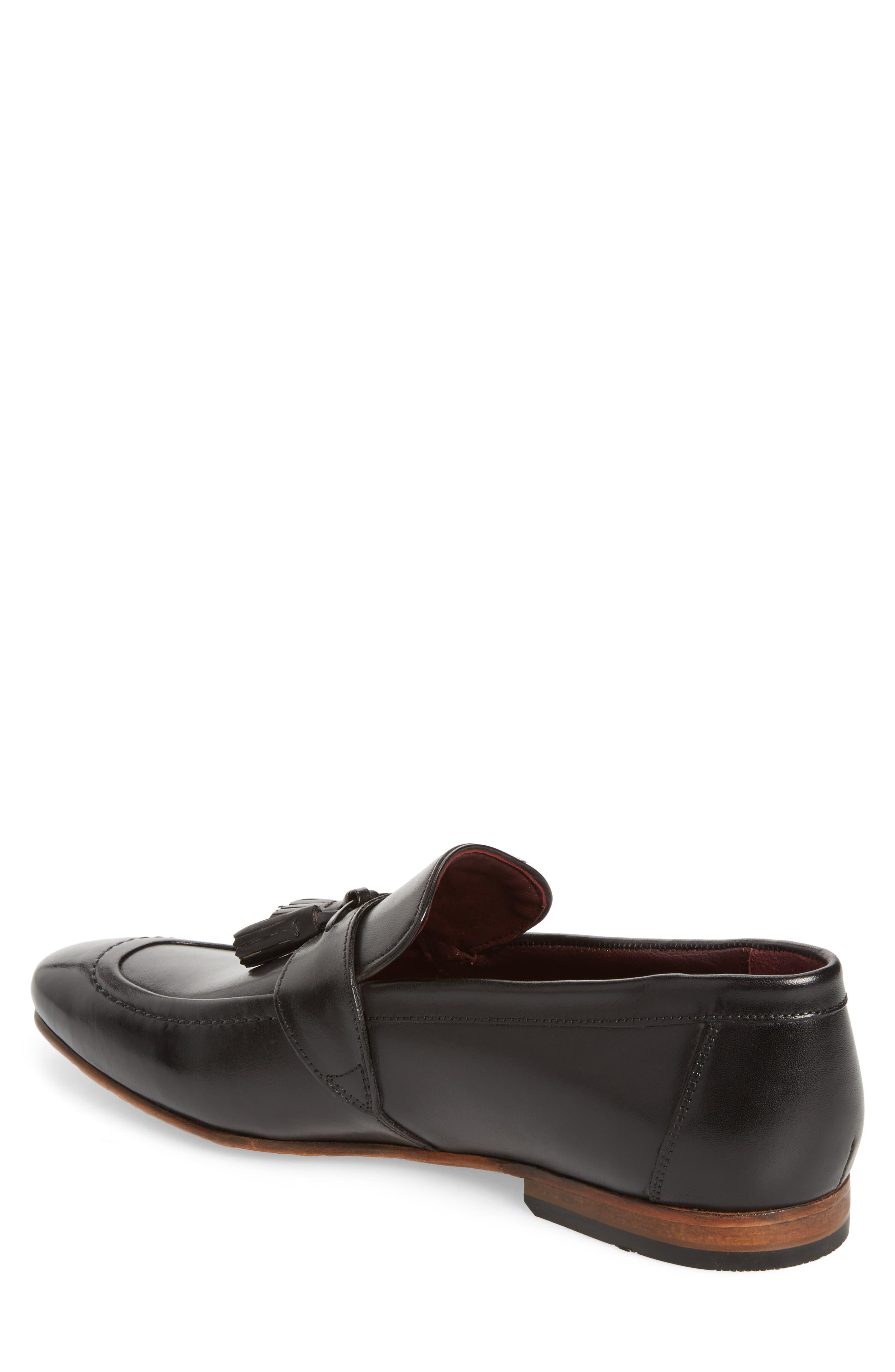 Grafit Tassel Loafer,                             Alternate thumbnail 2, color,                             Black Leather