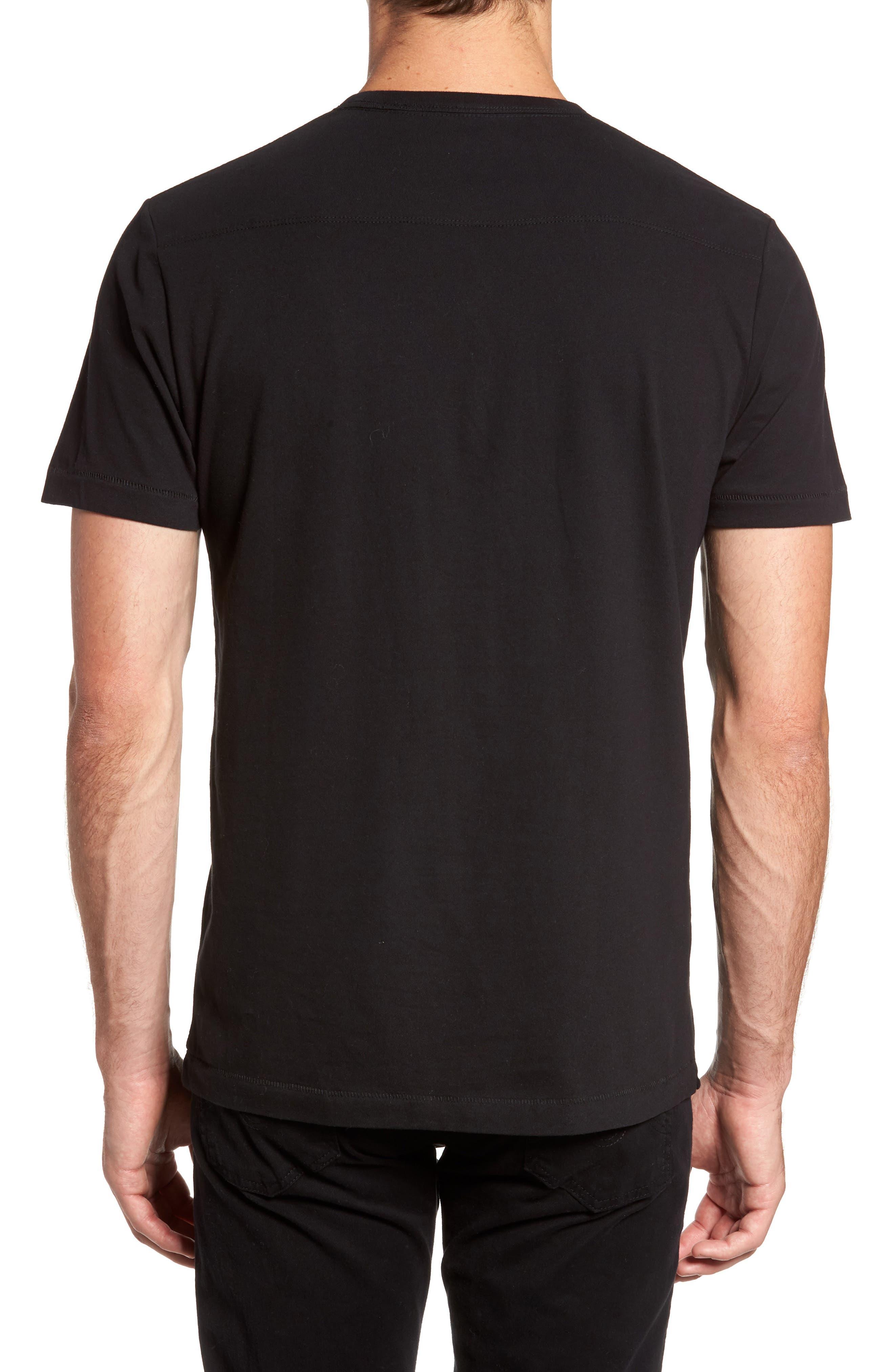 Wink Regular Fit T-Shirt,                             Alternate thumbnail 2, color,                             Black/ White