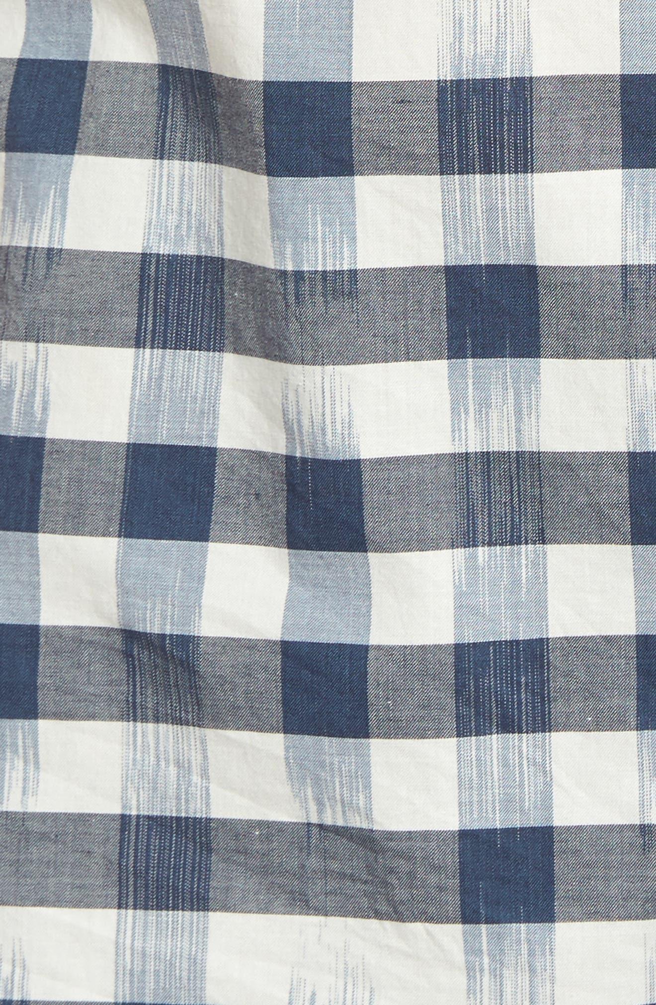 Fragmented Gingham Shirt,                             Alternate thumbnail 5, color,                             Ocean Deep