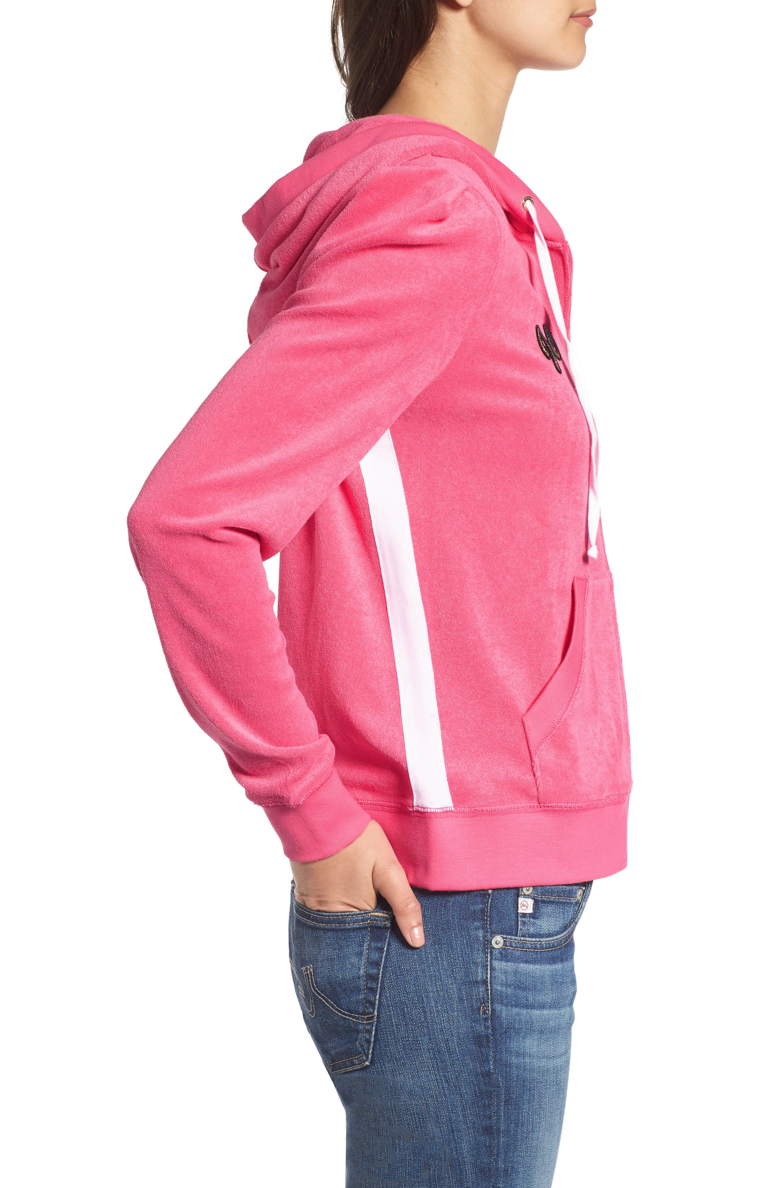 Alternate Image 3  - Juicy Couture Venice Beach Microterry Hoodie