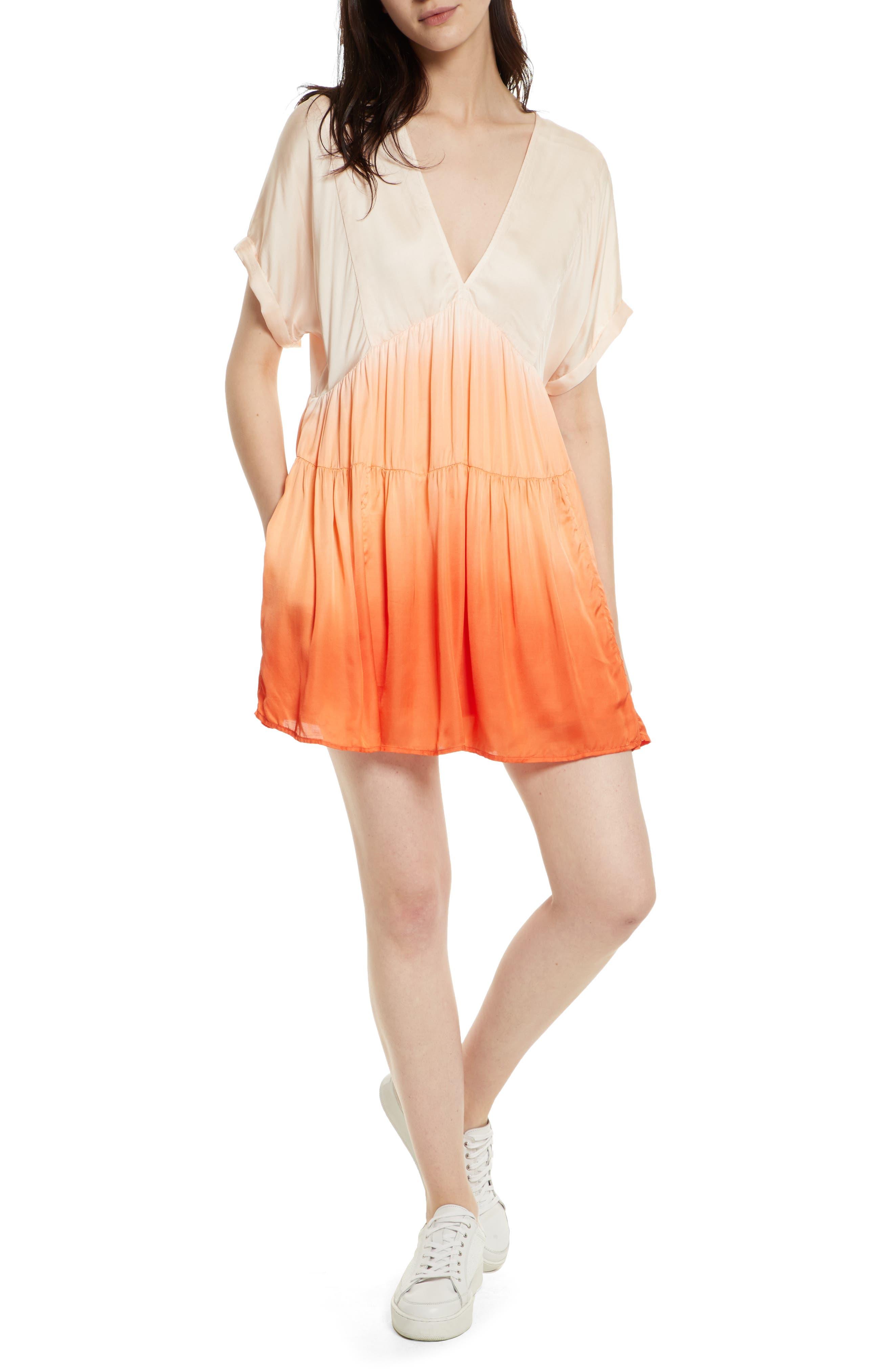 Main Image - Free People Sun Up Tie Dye Tunic Dress