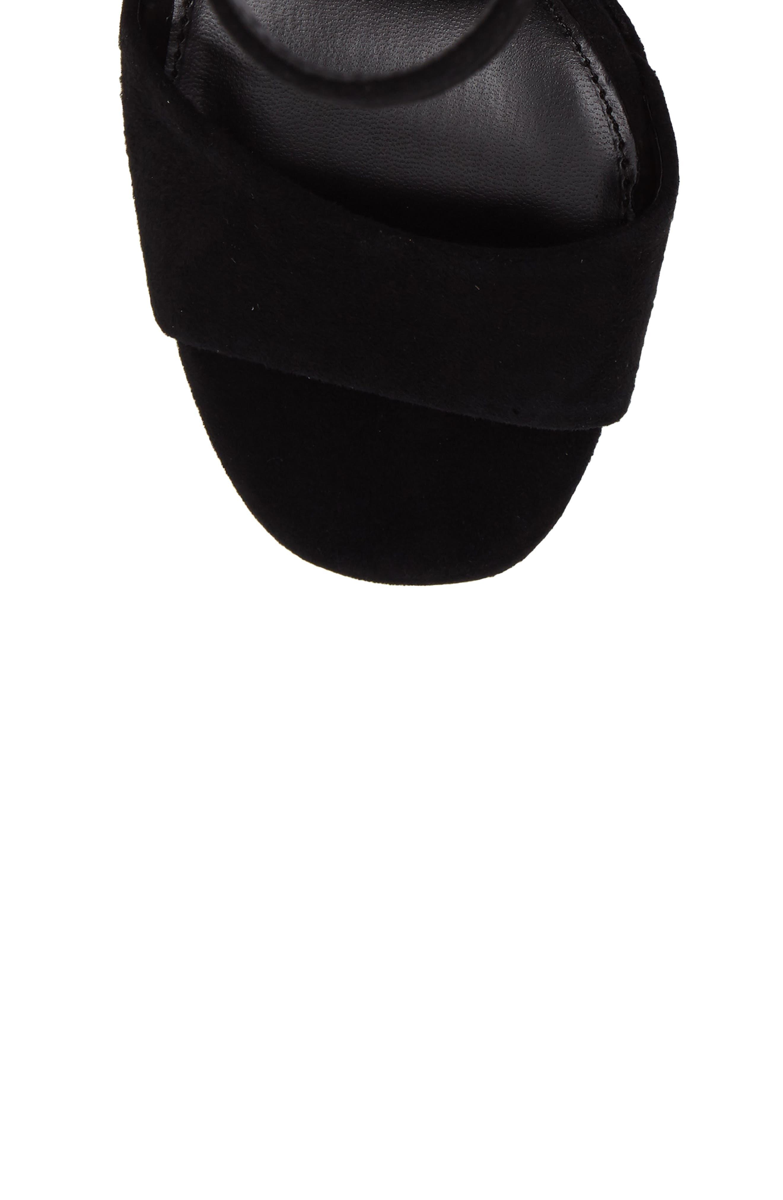 Jasmine Platform Sandal,                             Alternate thumbnail 5, color,                             Black Suede