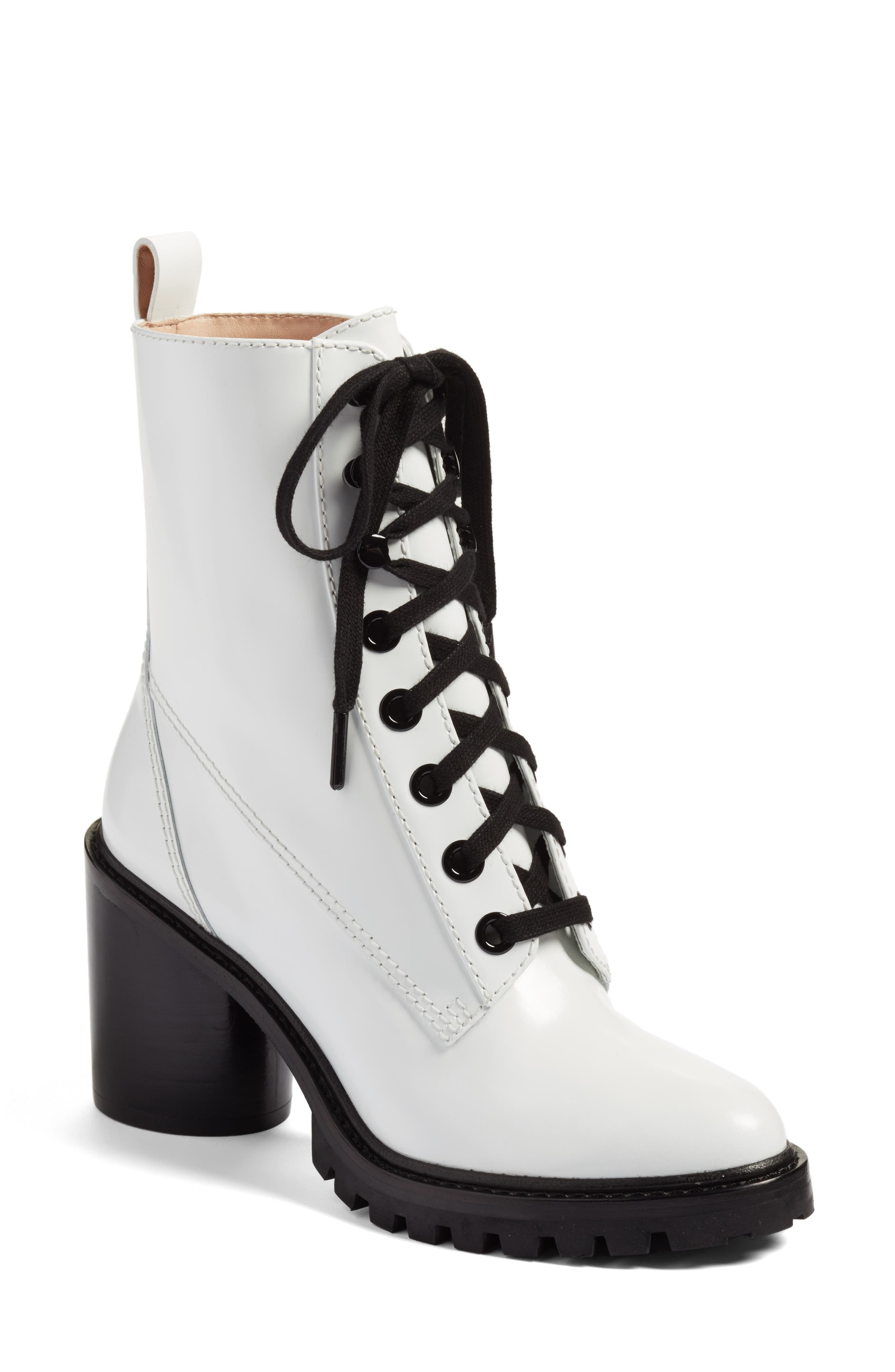 Ryder Block Heel Boot,                         Main,                         color, White