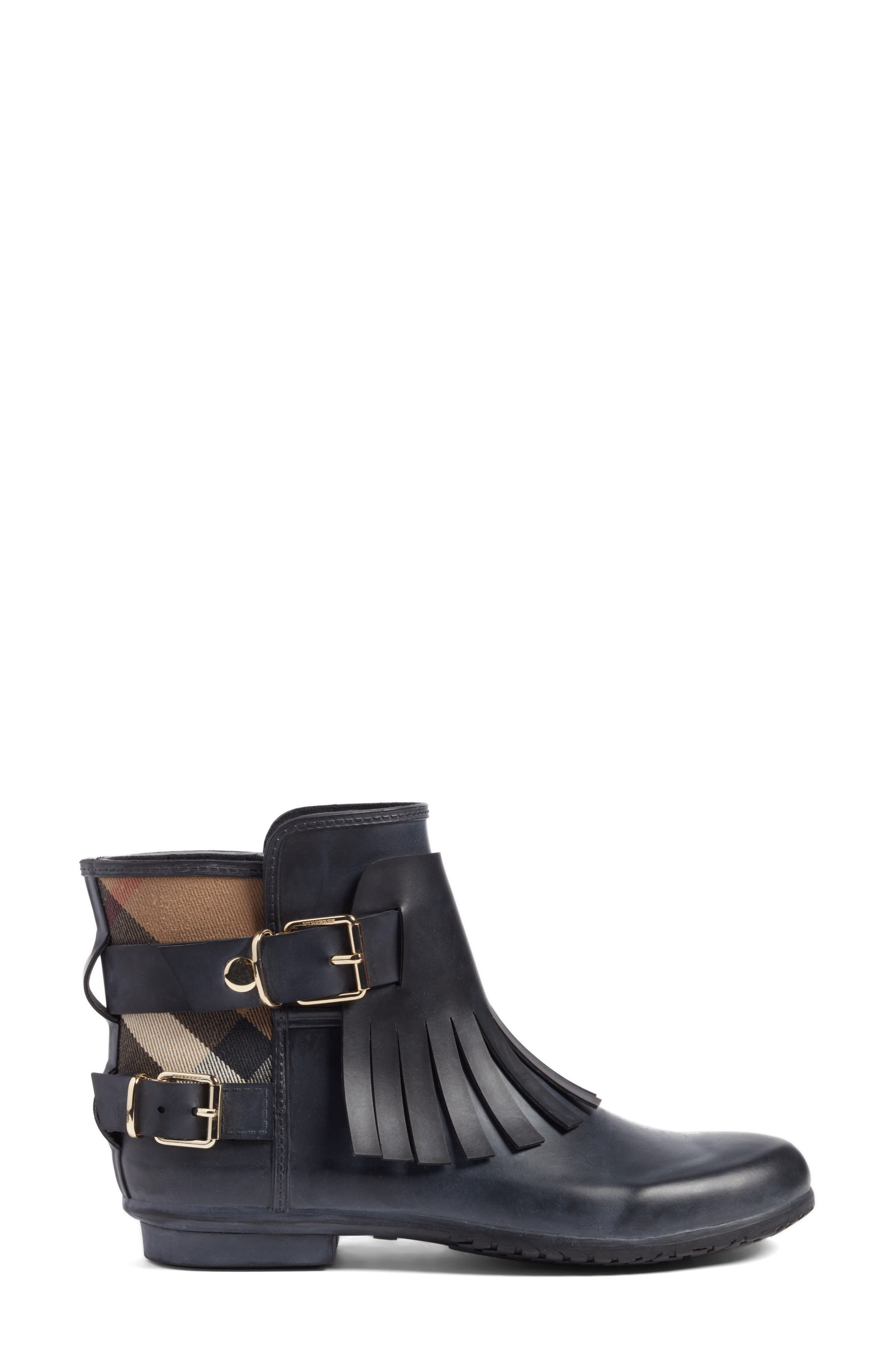 Alternate Image 3  - Burberry Fringe Short Rain Bootie (Women)