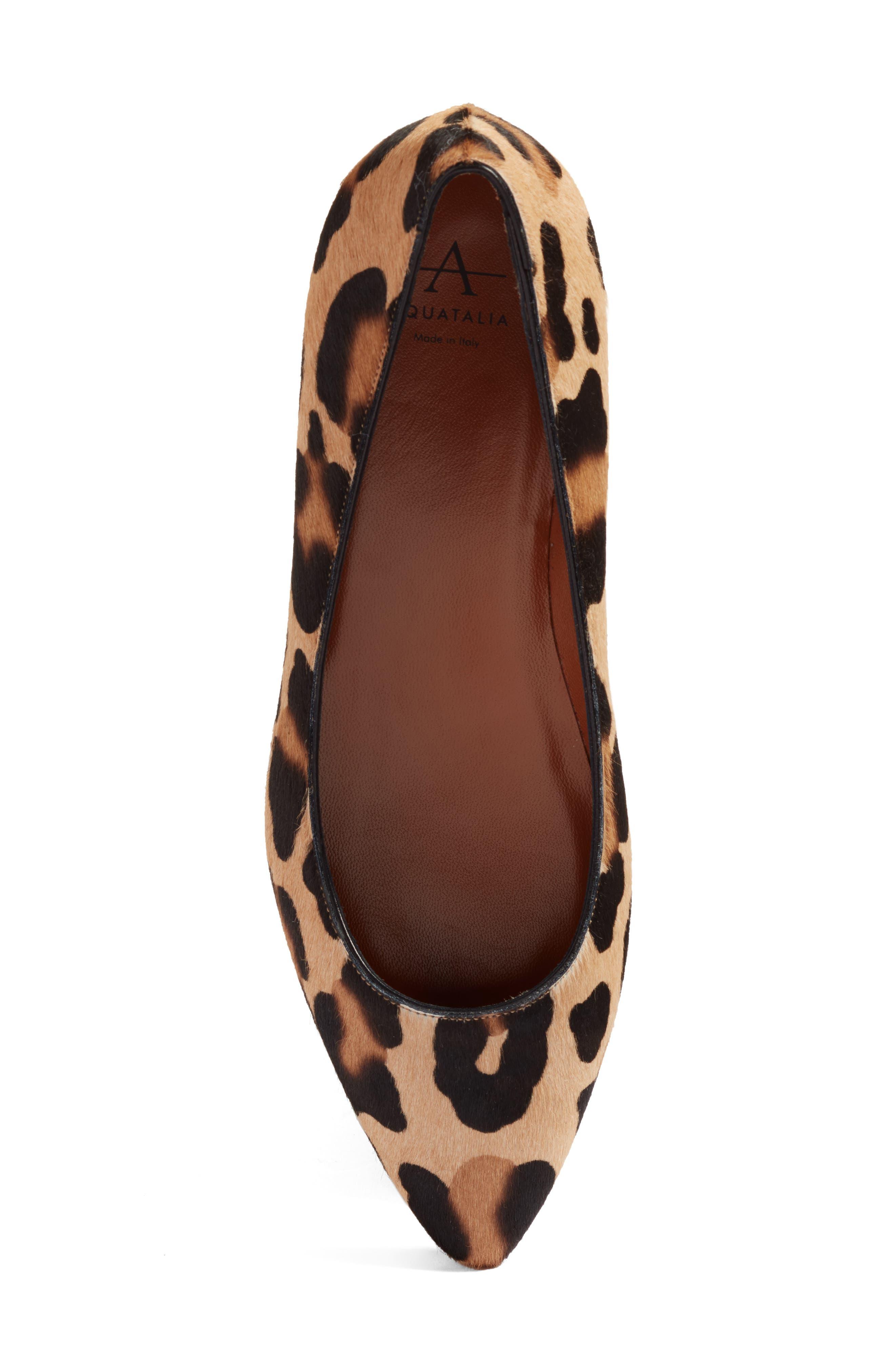 Alternate Image 5  - Aquatalia Perla Weatherproof Genuine Calf Hair Ballerina Shoe (Women)
