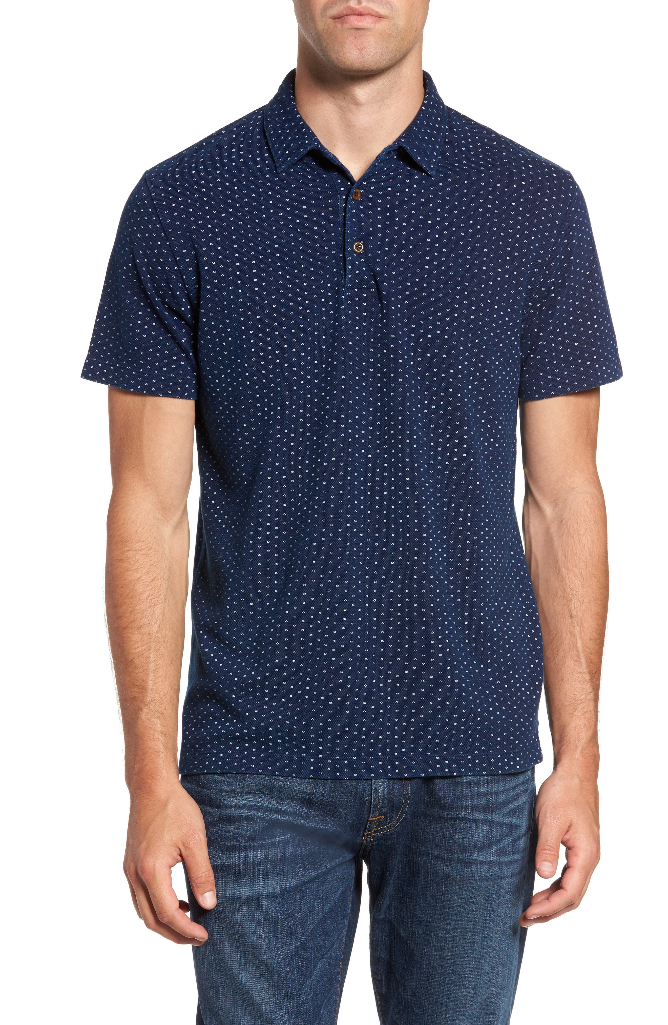 Alternate Image 1 Selected - French Connection Dojo Dot Regular Fit Cotton Polo