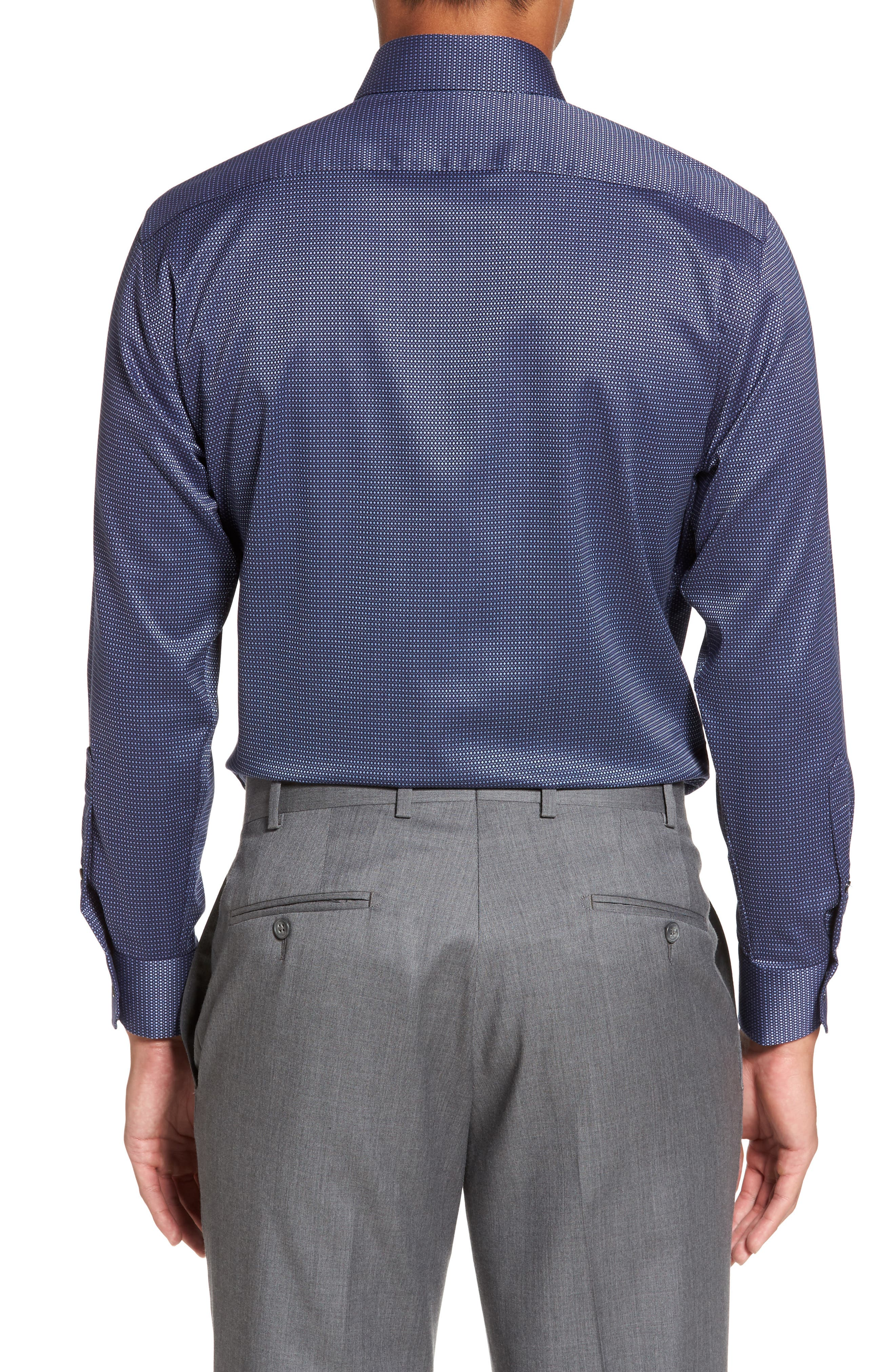 Alternate Image 3  - Calibrate Trim Fit Non-Iron Stretch Dot Dress Shirt