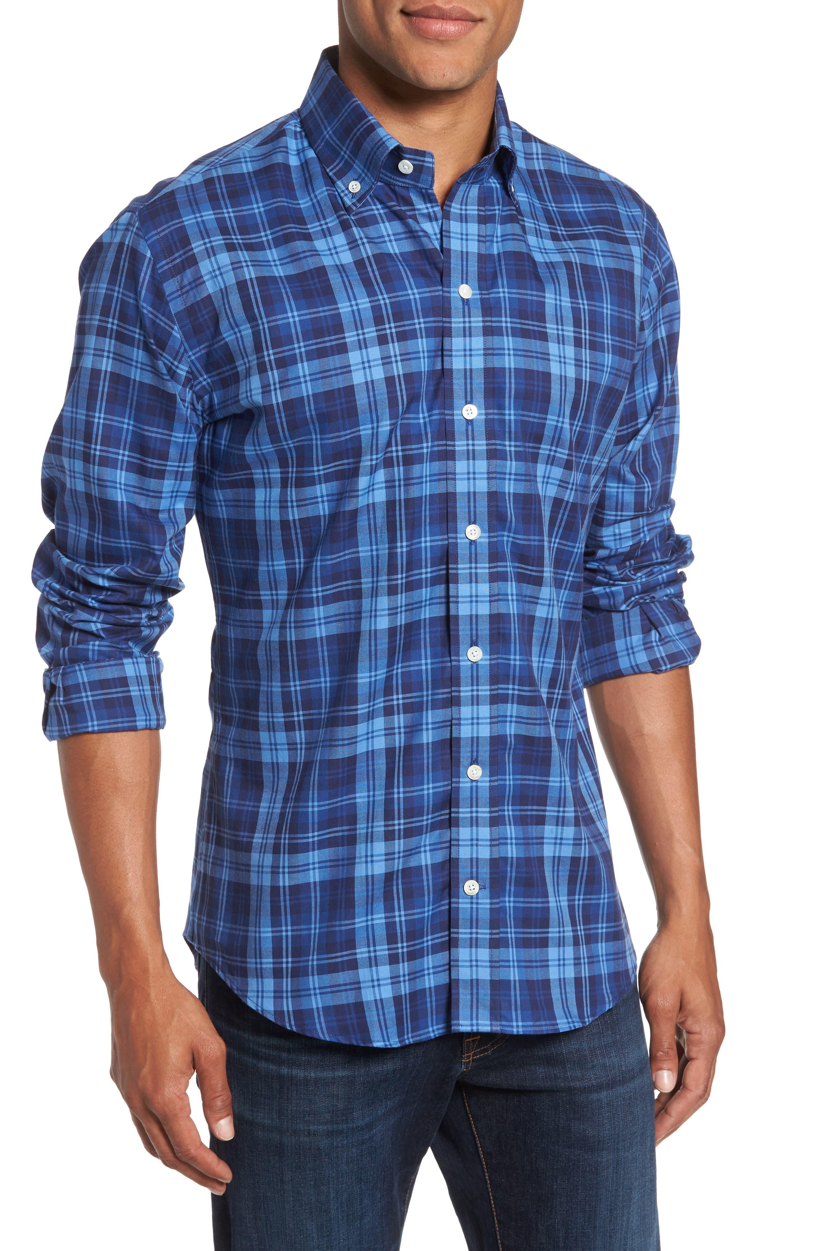 Main Image - Ledbury Slim Fit Plaid Sport Shirt