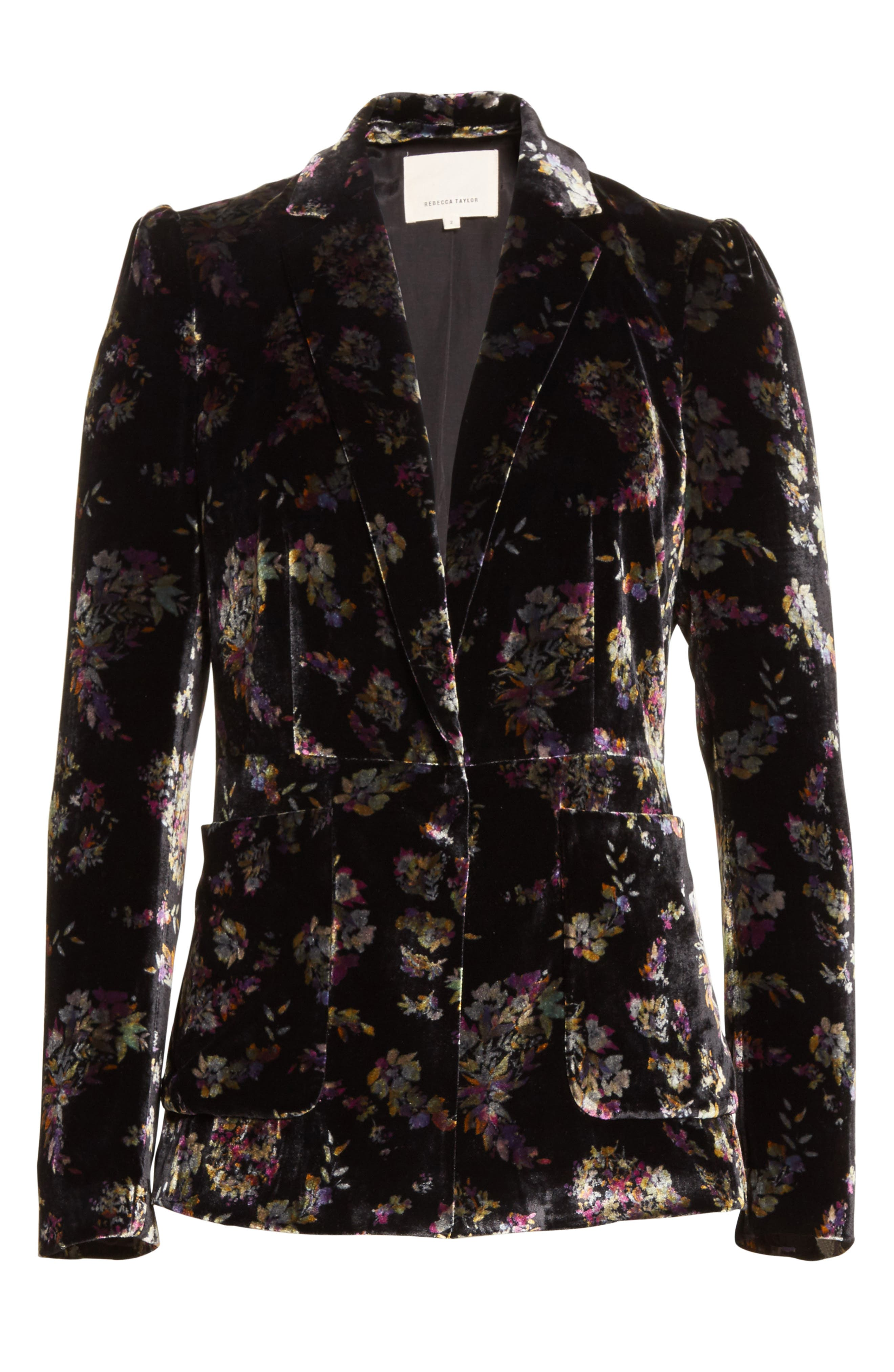 Alternate Image 6  - Rebecca Taylor Jewel Velvet Blazer