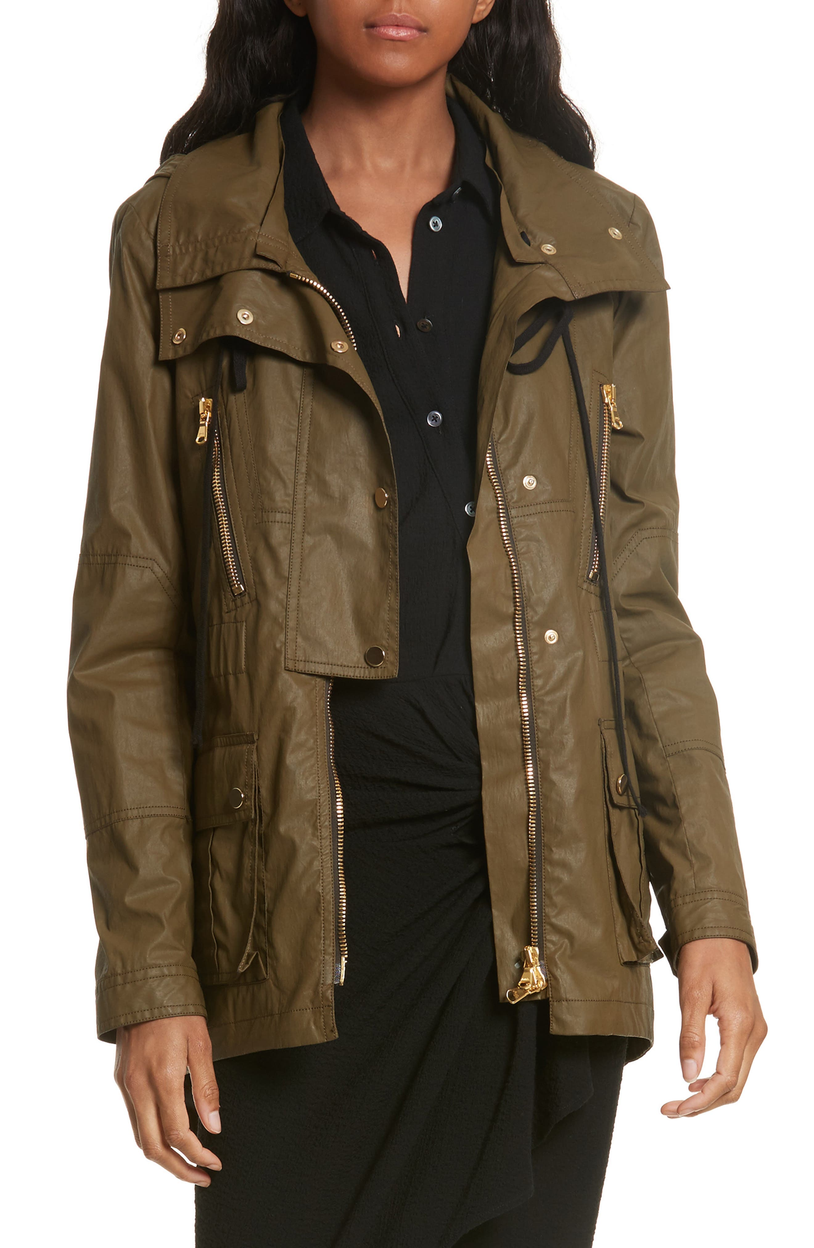 Veronica Beard King Hooded Rain Parka