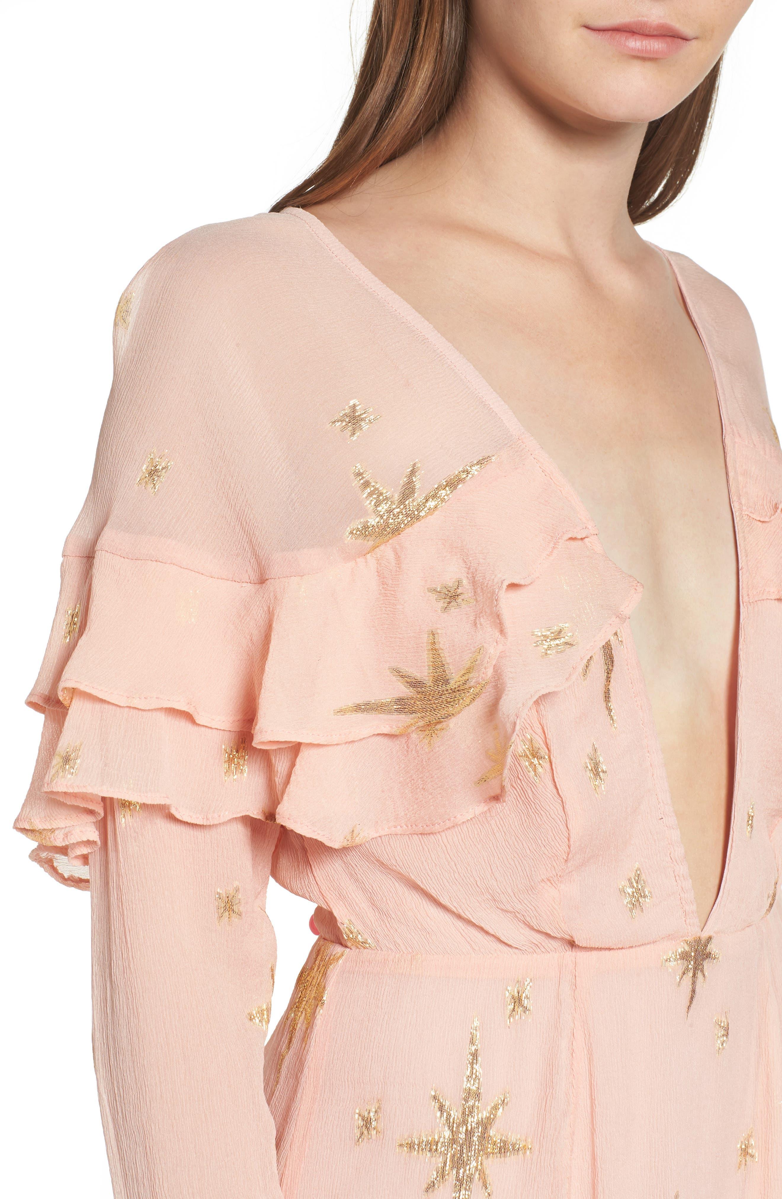 Alternate Image 4  - For Love & Lemons Gilded Star Minidress