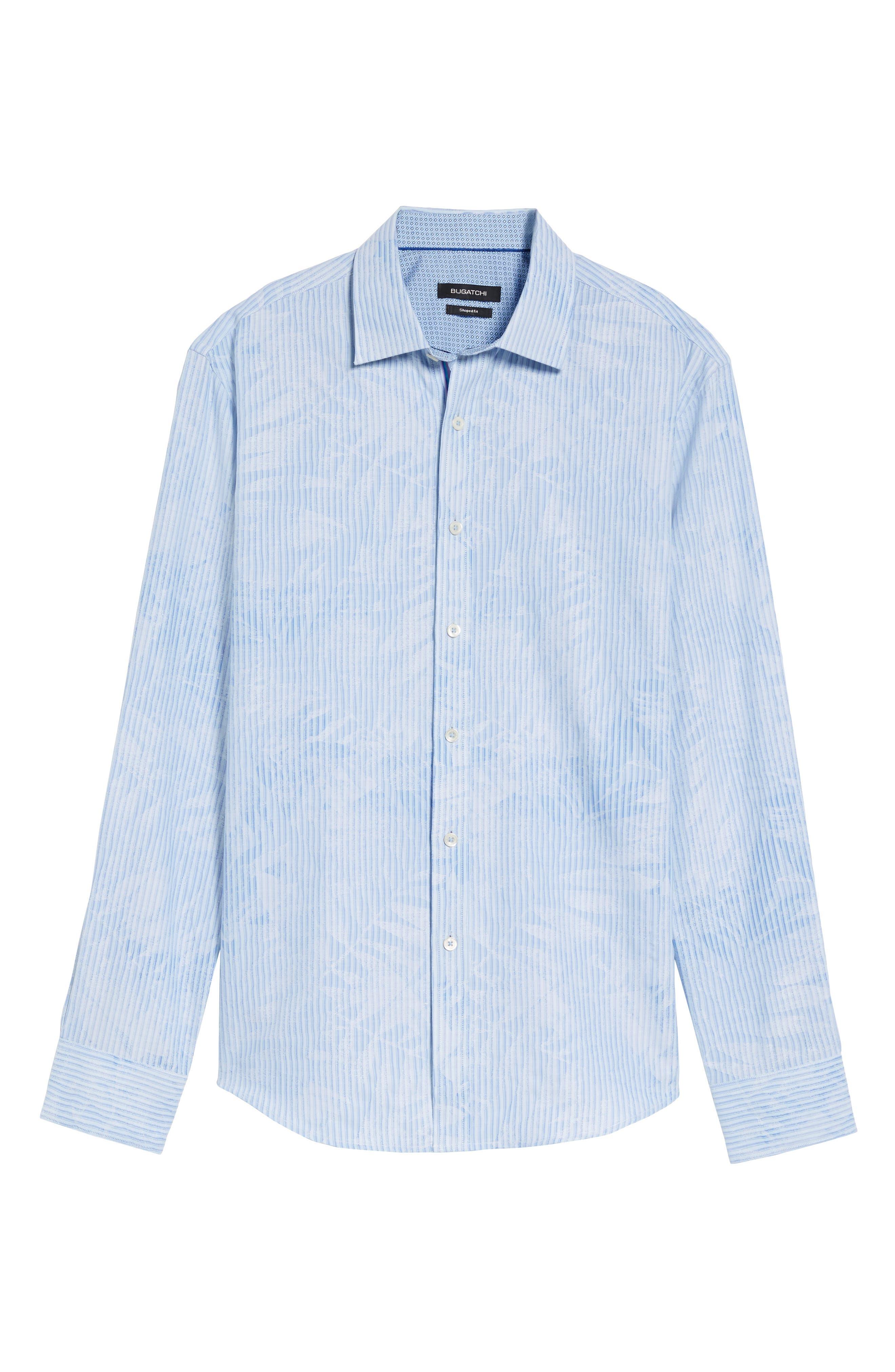 Alternate Image 7  - Bugatchi Shaped Fit Floral Stripe Sport Shirt