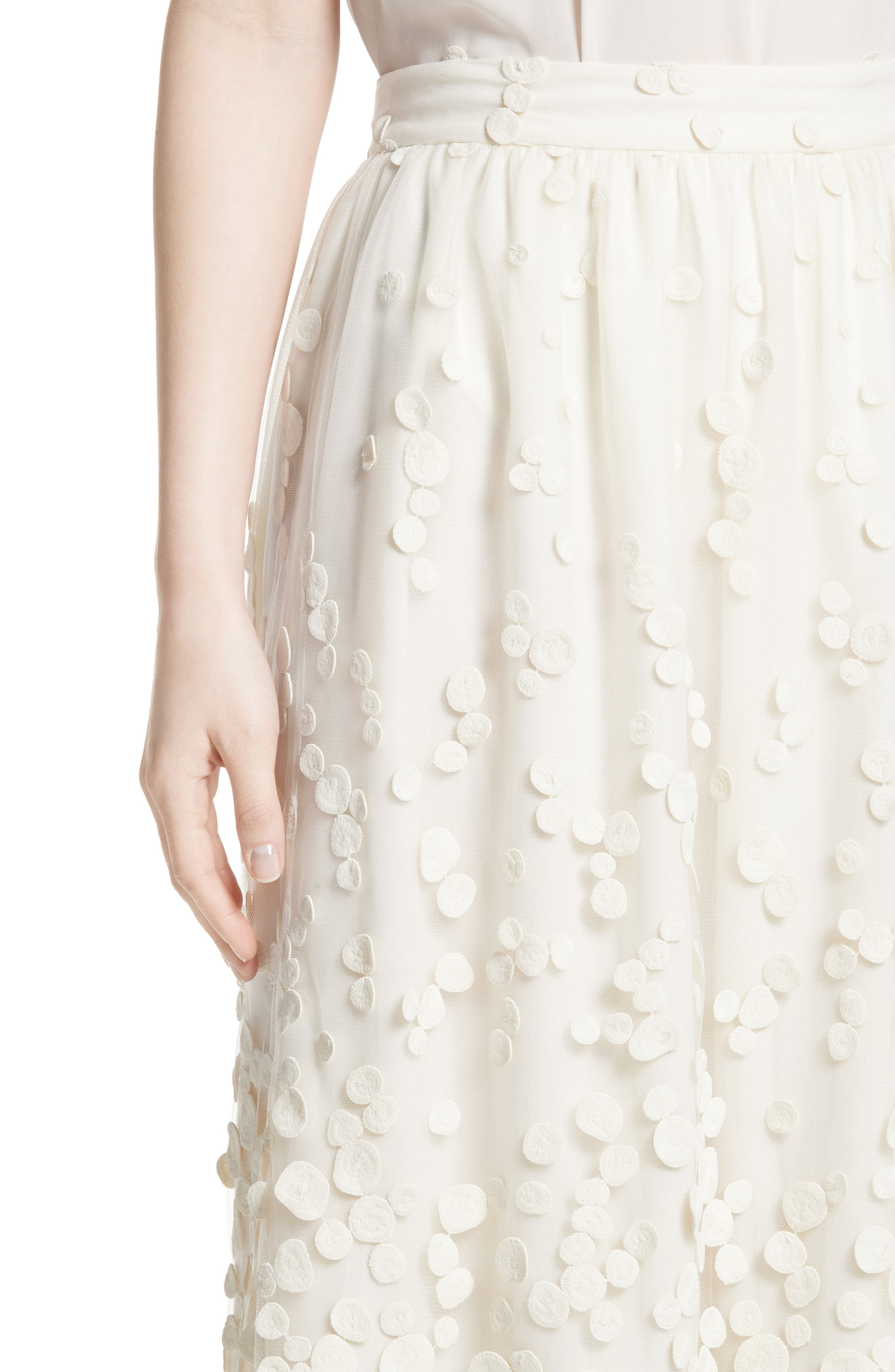 Alternate Image 7  - Co Pebbles Embroidered Mesh Midi Skirt