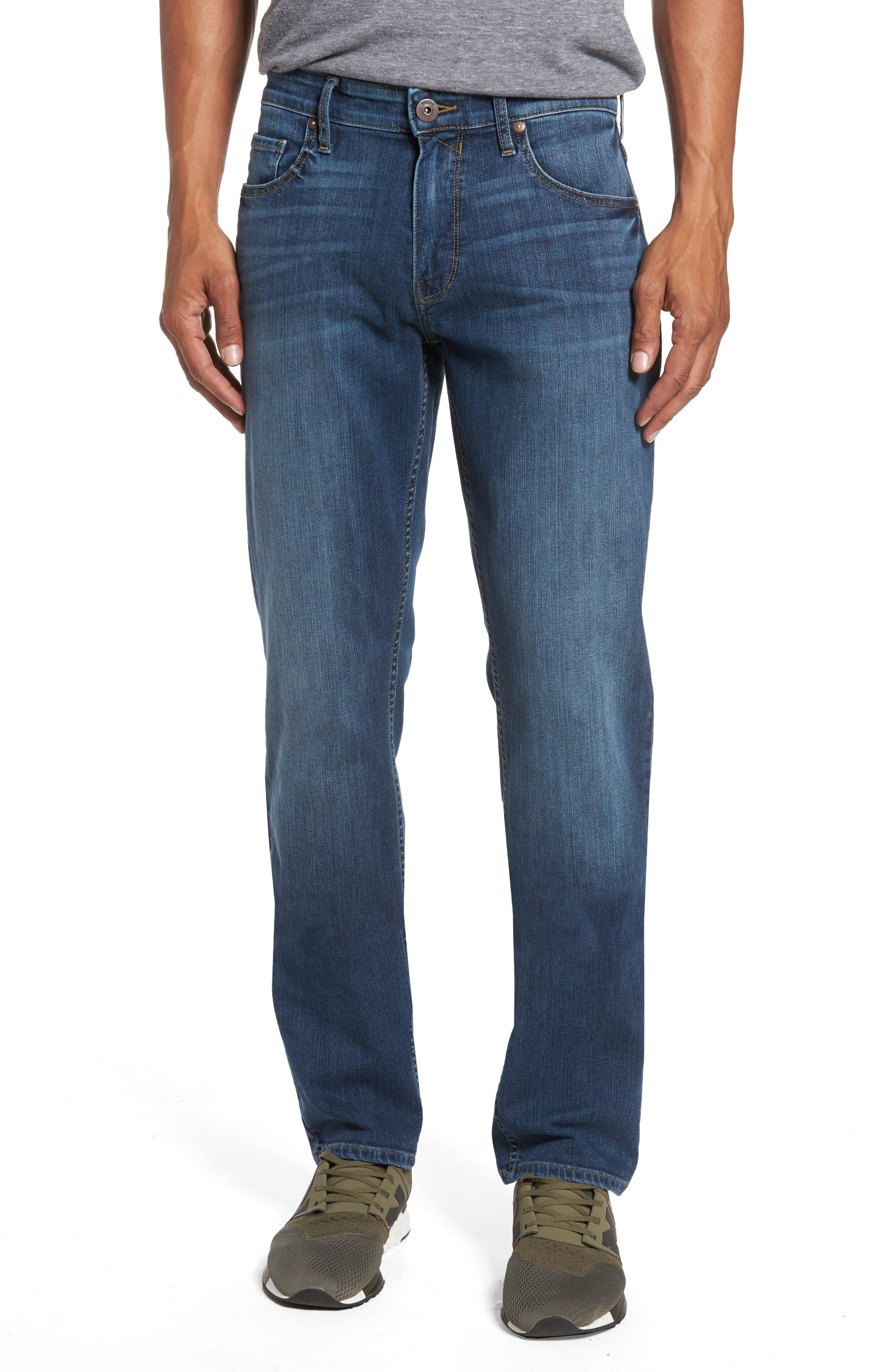 Alternate Image 1 Selected - PAIGE Legacy - Federal Slim Straight Fit Jeans (Indie)