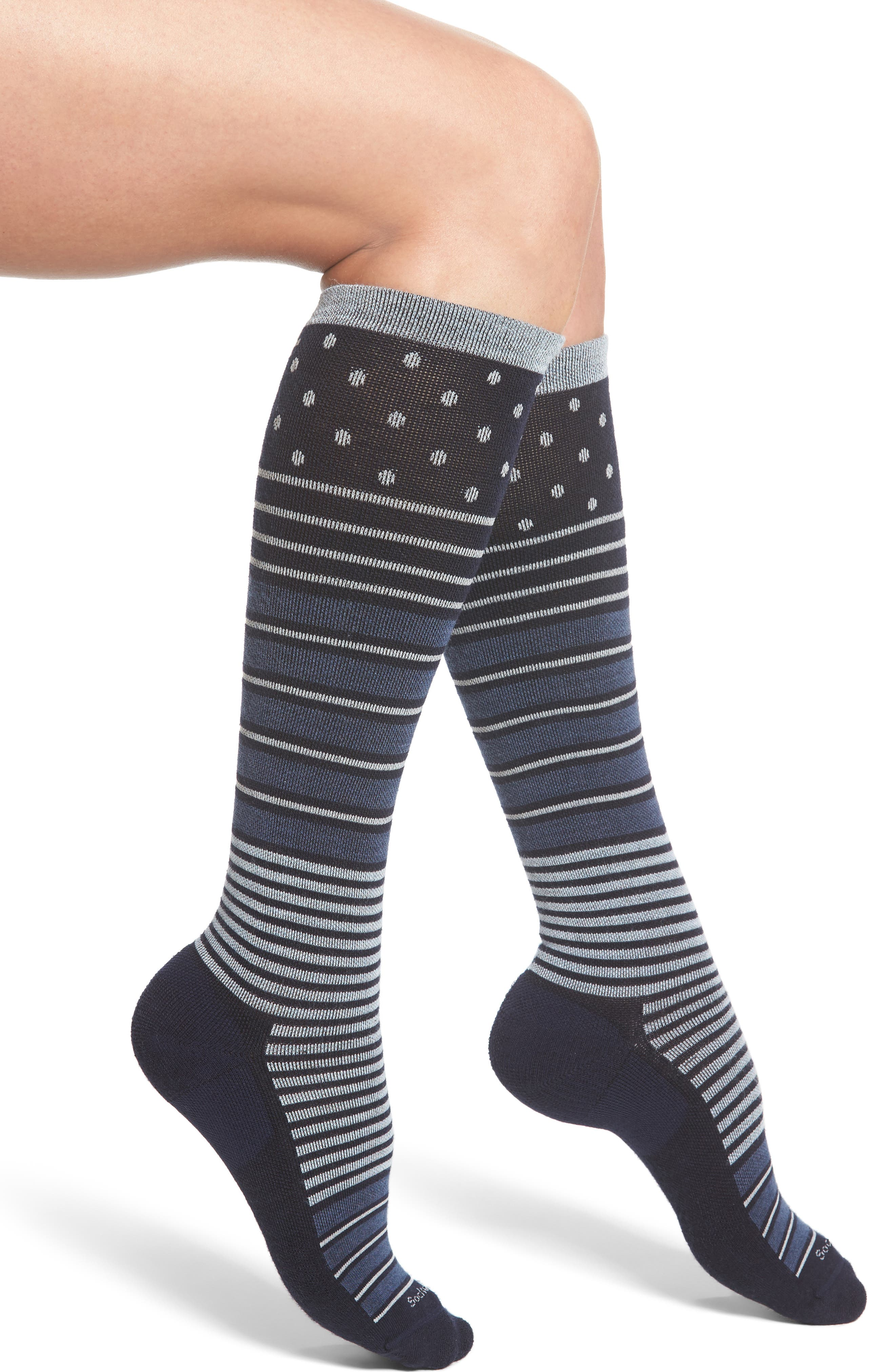 Alternate Image 1 Selected - Sockwell 'Twister' Merino Wool Blend Compression Socks