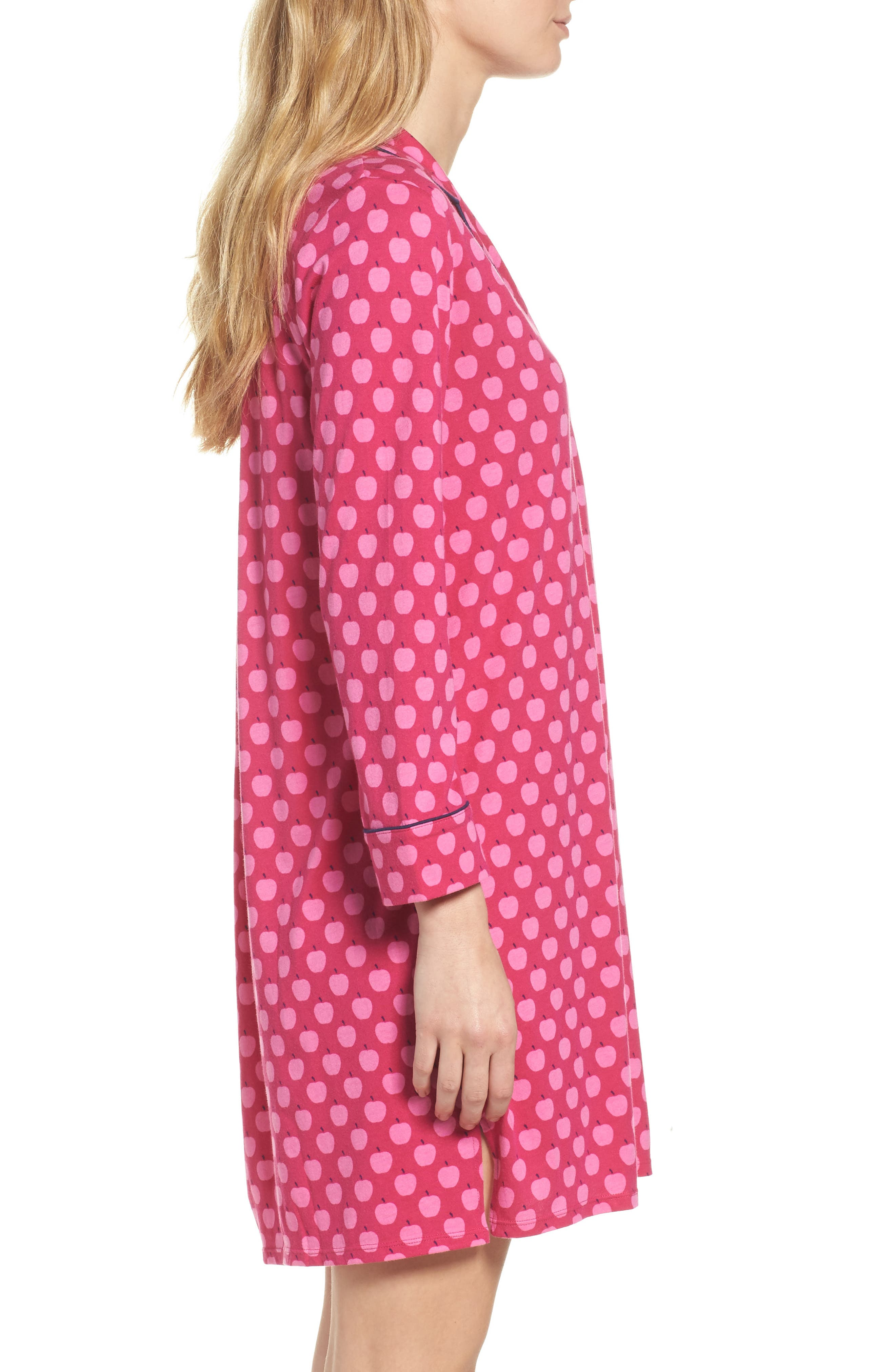 print sleep shirt,                             Alternate thumbnail 3, color,                             Pink